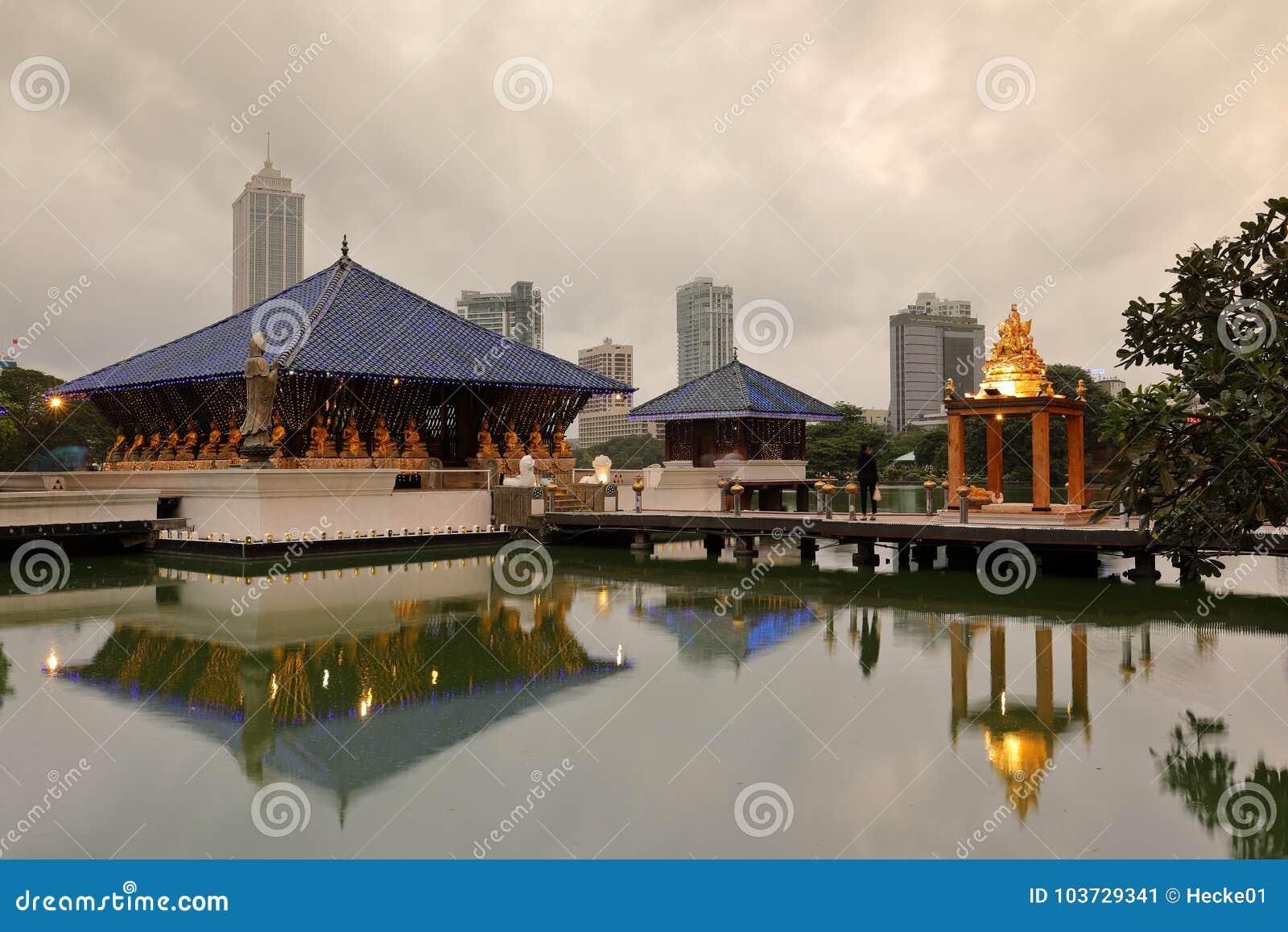 Seema Malaka Temple von Colombo in Sri Lanka
