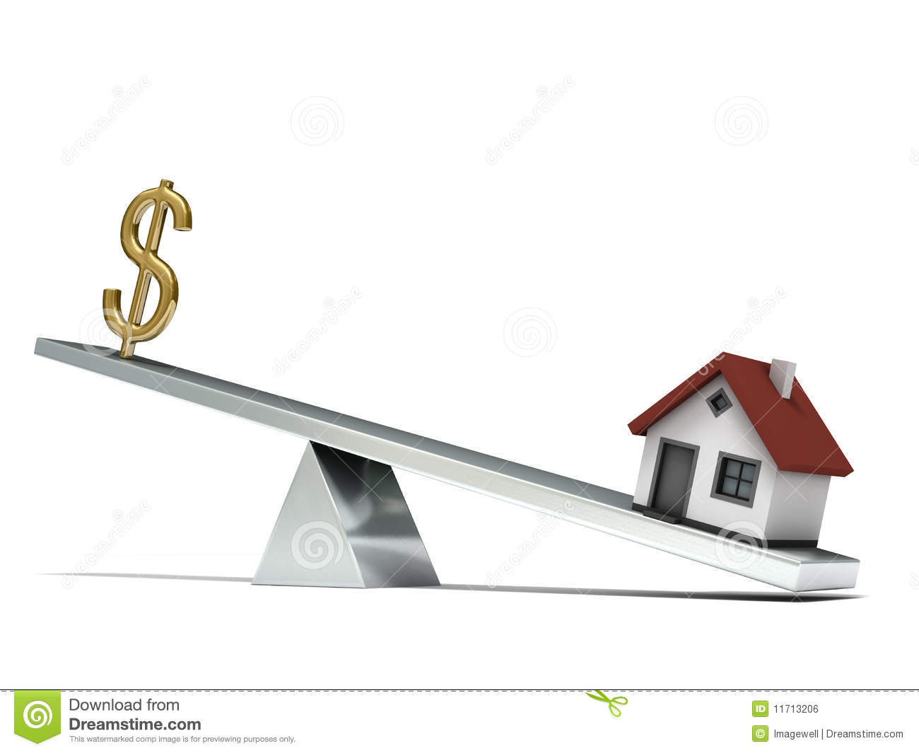 Seesaw dollar house royalty free stock image image 11713206 for Seesaw plans designs