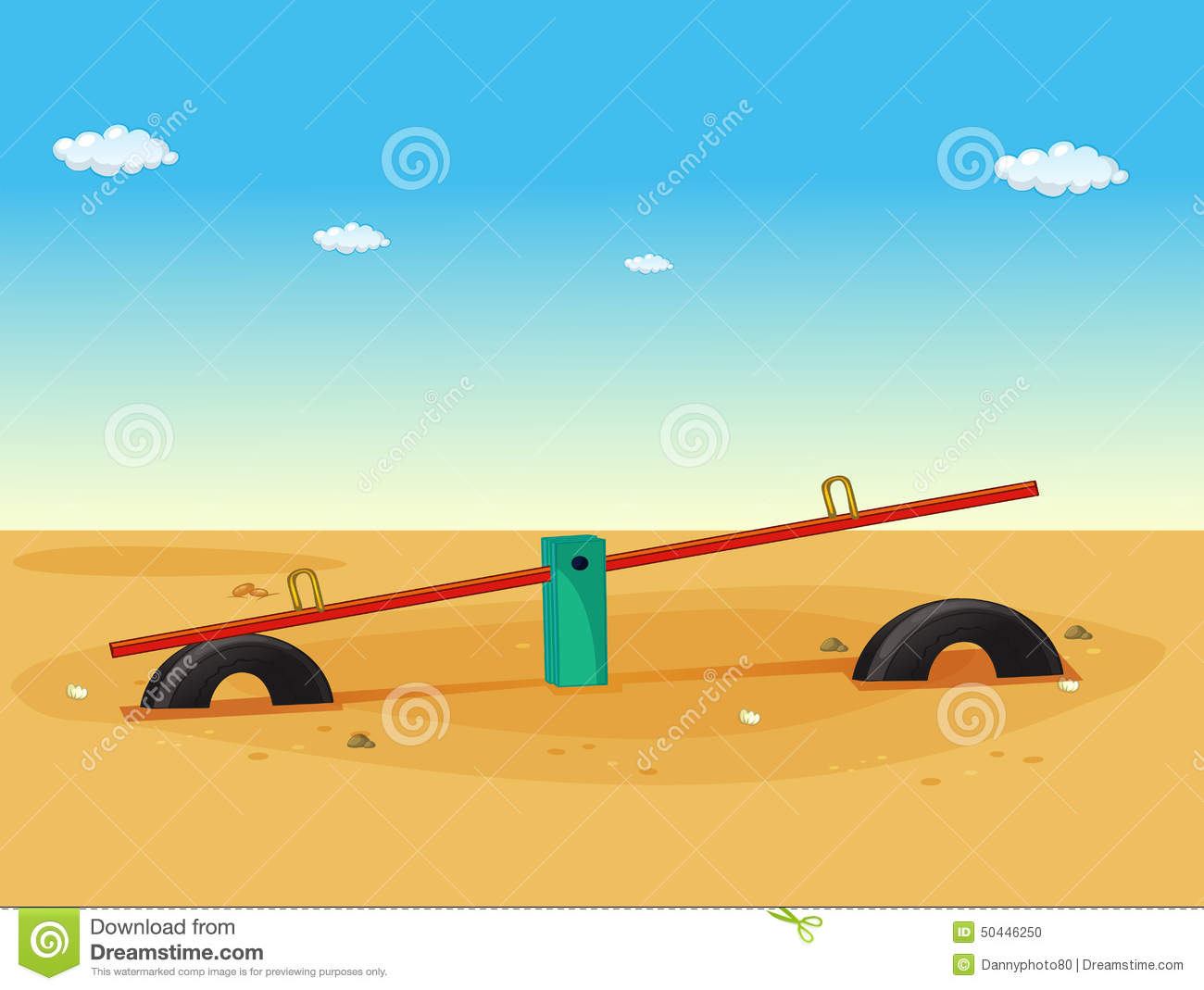 Seesaw stock vector image 50446250 for Seesaw plans designs