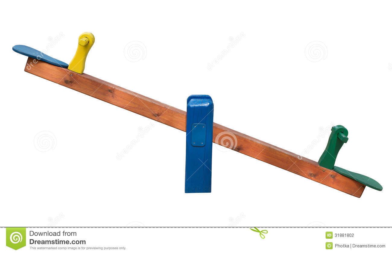 Seesaw isolated on white background stock photography for Seesaw plans designs