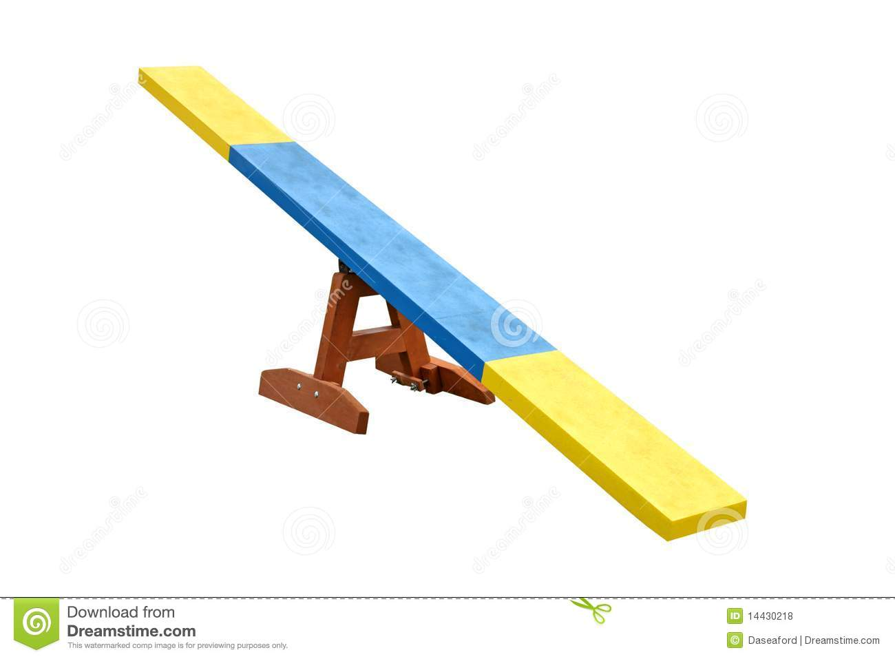 Seesaw Obstacle. stock photo. Image of sport, training ...