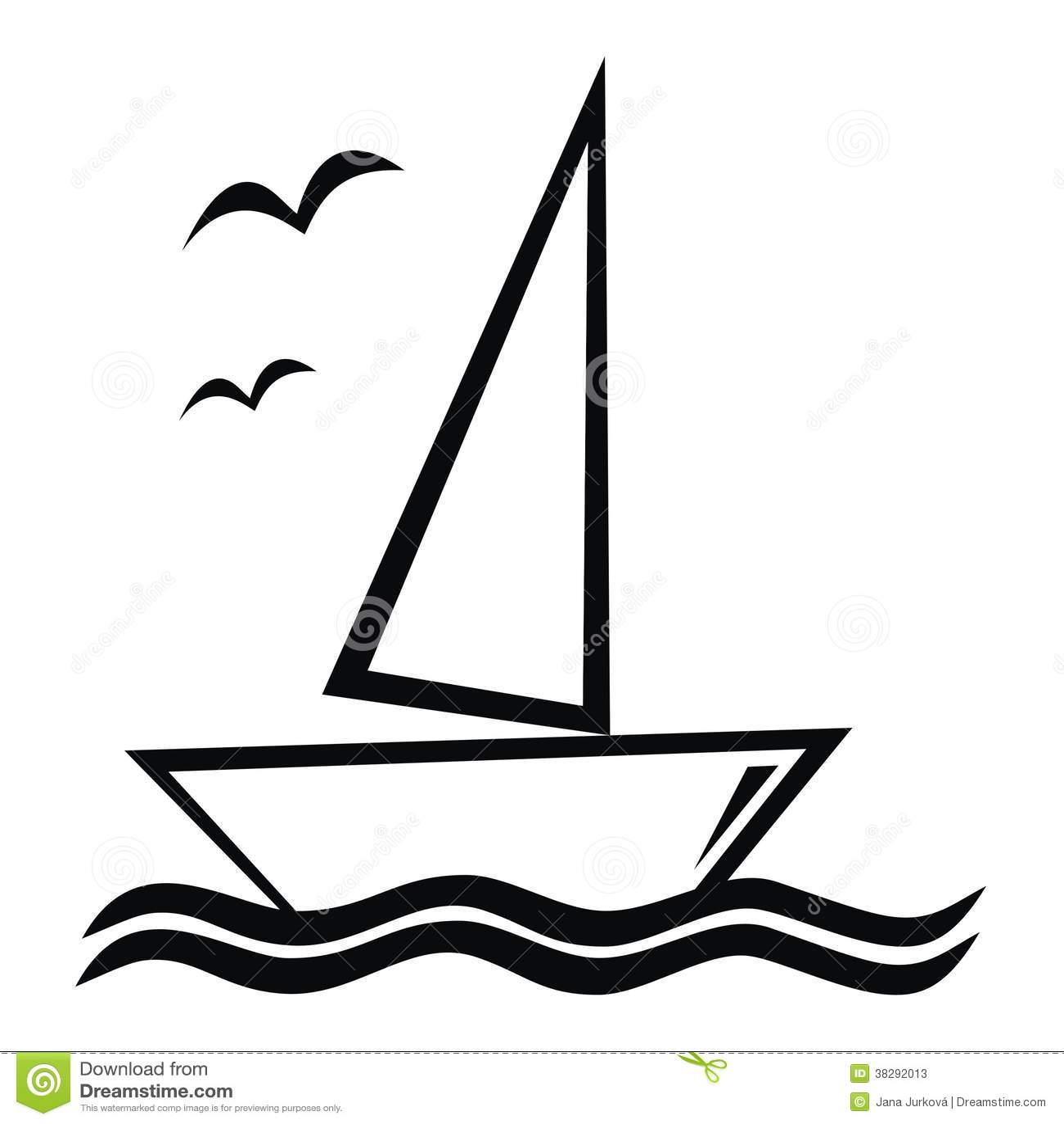 Segelboot zeichnung  Segelboot vektor abbildung. Illustration von firma, seemöwe - 38292013