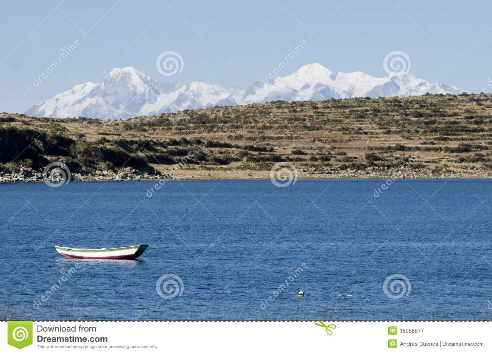 Segelboot auf titicaca See