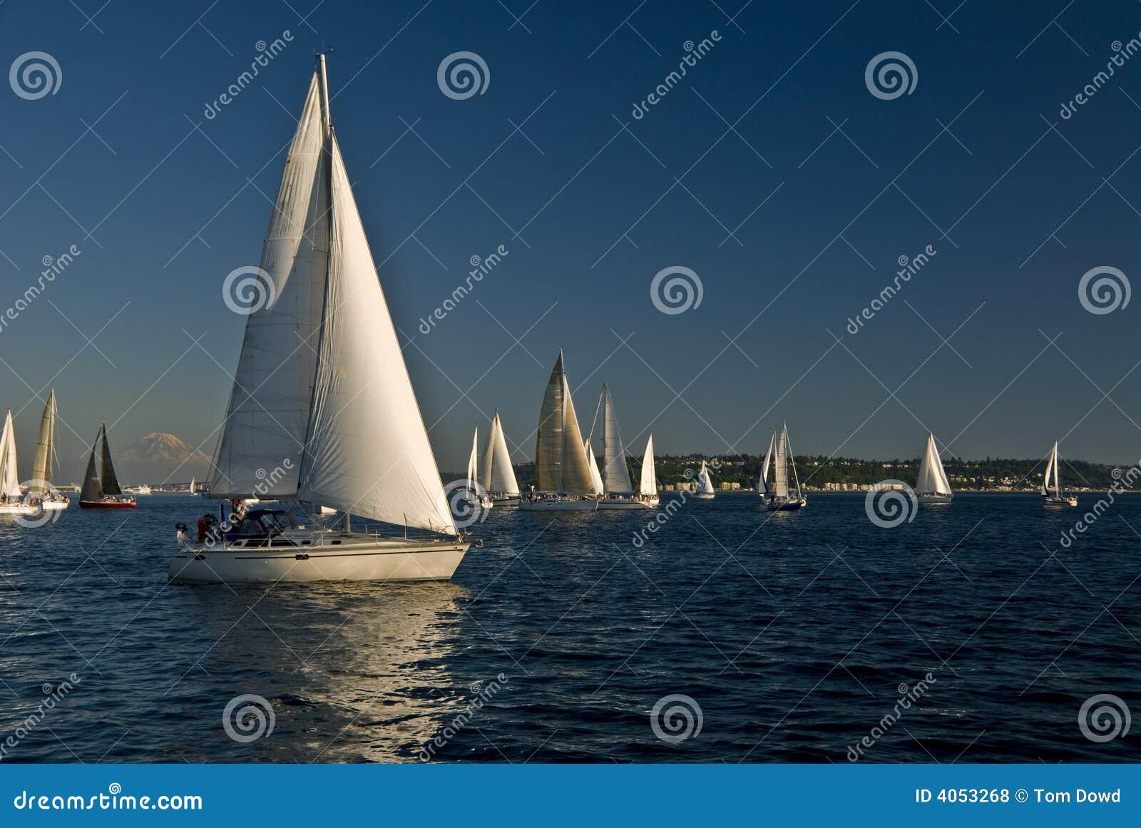 Segelboote auf Puget Sound