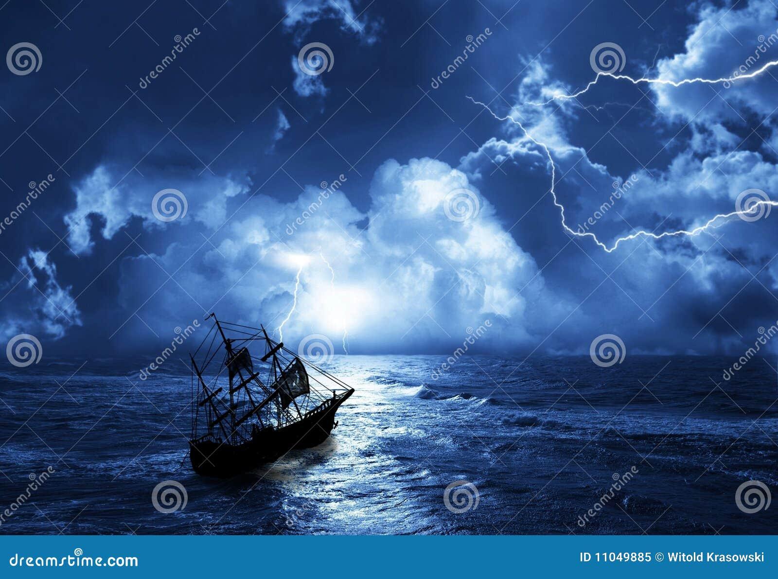 Segeln-versenden Sie in der Zeit des Sturms