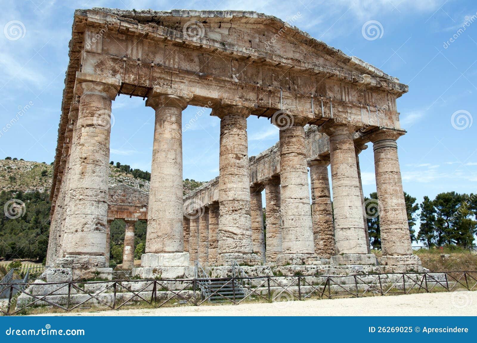 Segesta Greek Temple Royalty Free Stock Photo Image 26269025