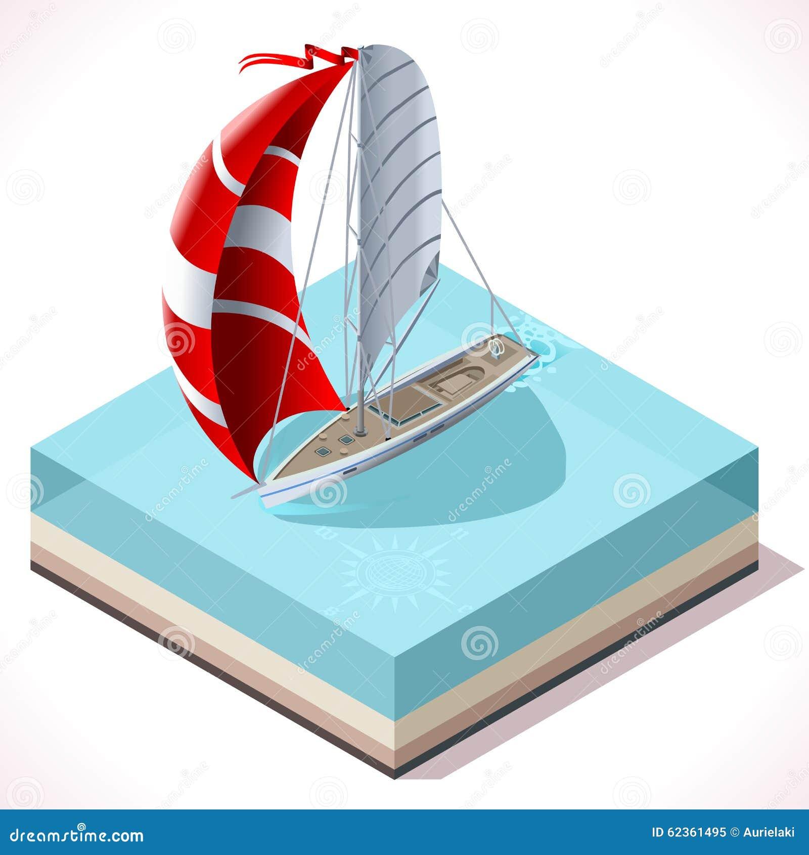 Segla det isometriska medlet för fartyguppsättning 02