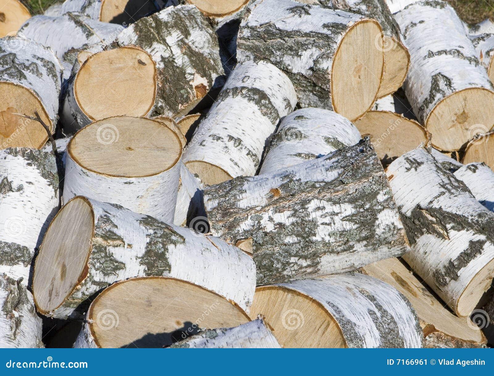 segment de m moire de bois de chauffage de bouleau image stock image 7166961. Black Bedroom Furniture Sets. Home Design Ideas