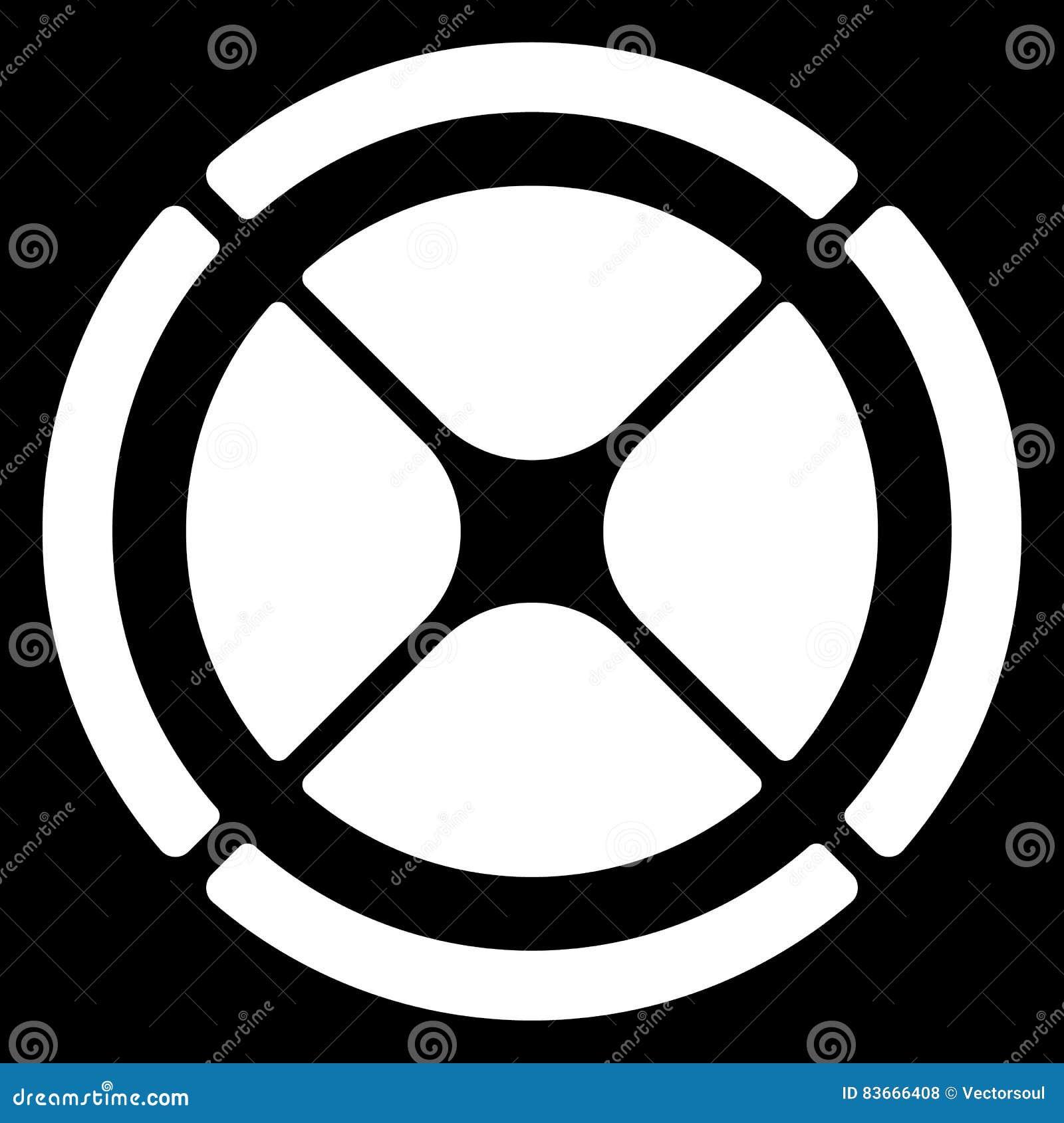Segmented Circle Cross Hair Target Symbol Chart Template Gui