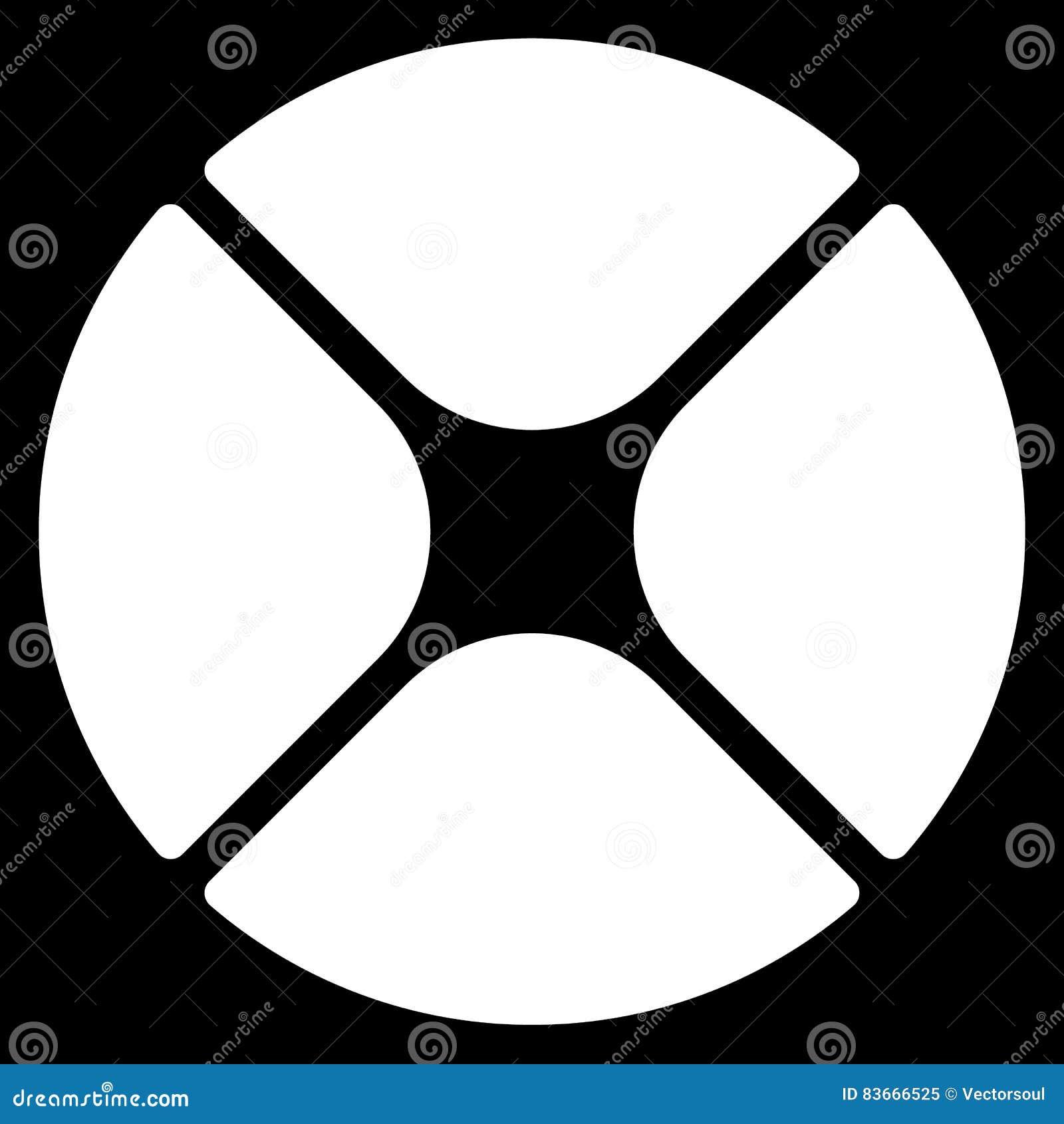 Segmented circle cross hair target symbol chart template gui download segmented circle cross hair target symbol chart template gui stock vector maxwellsz