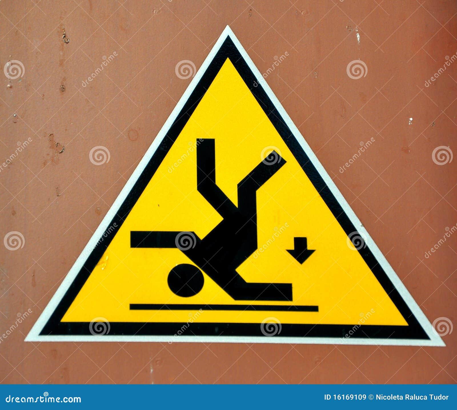 Segnale di pericolo rischio di caduta immagini stock libere da diritti immagine 16169109 - Segnale pavimento bagnato ...