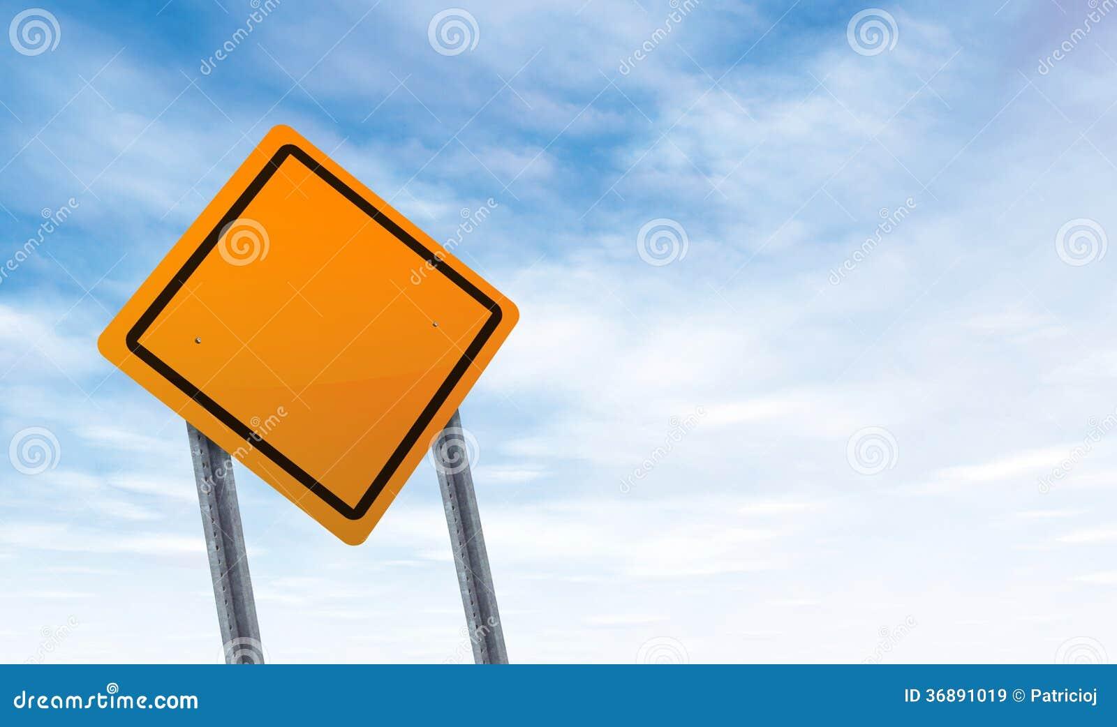 Download Segnale Stradale In Bianco Con Lo Spazio Della Copia Del Cielo Immagine Stock - Immagine di creativo, concetti: 36891019