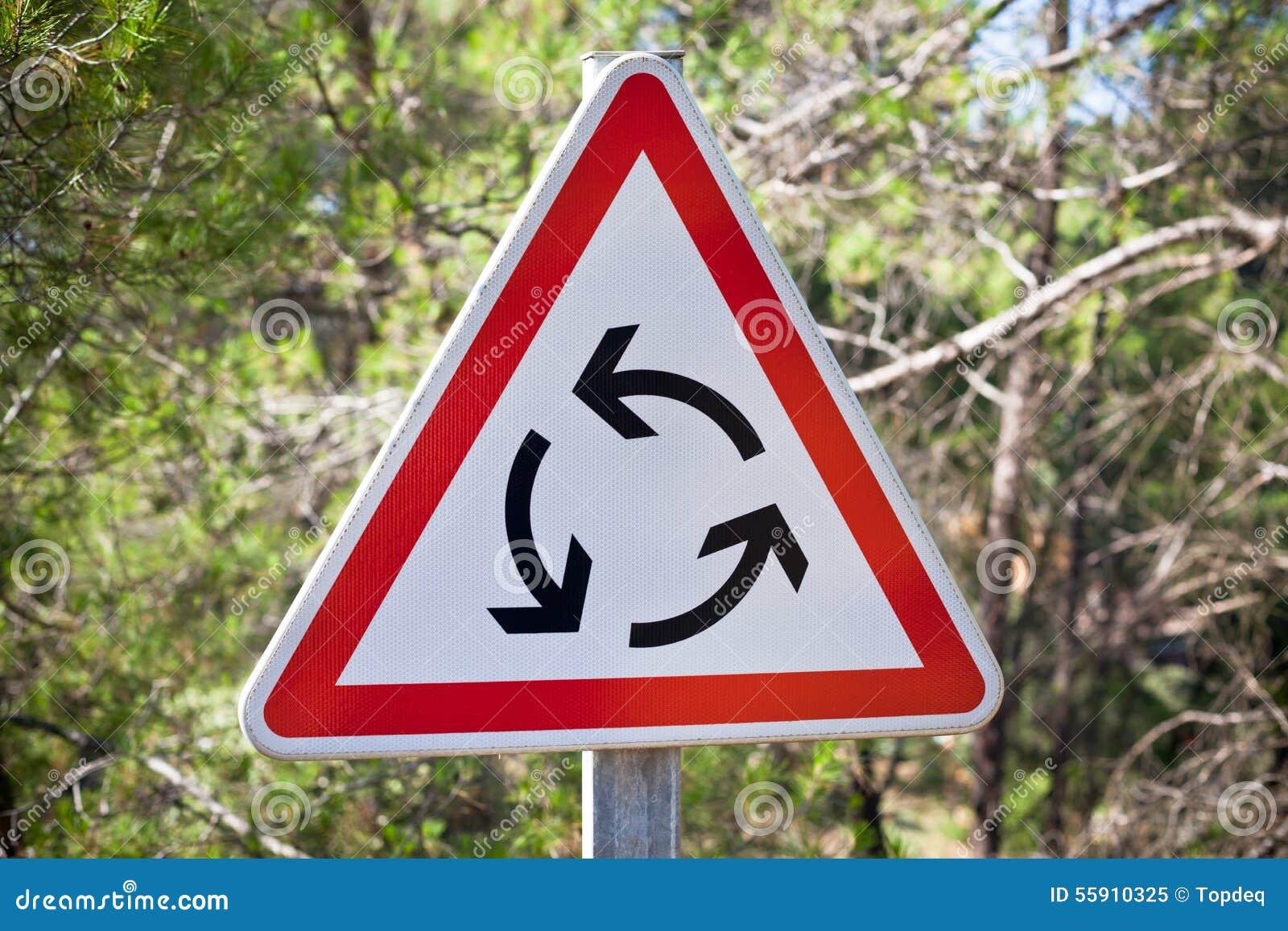 Segnale stradale della rotonda