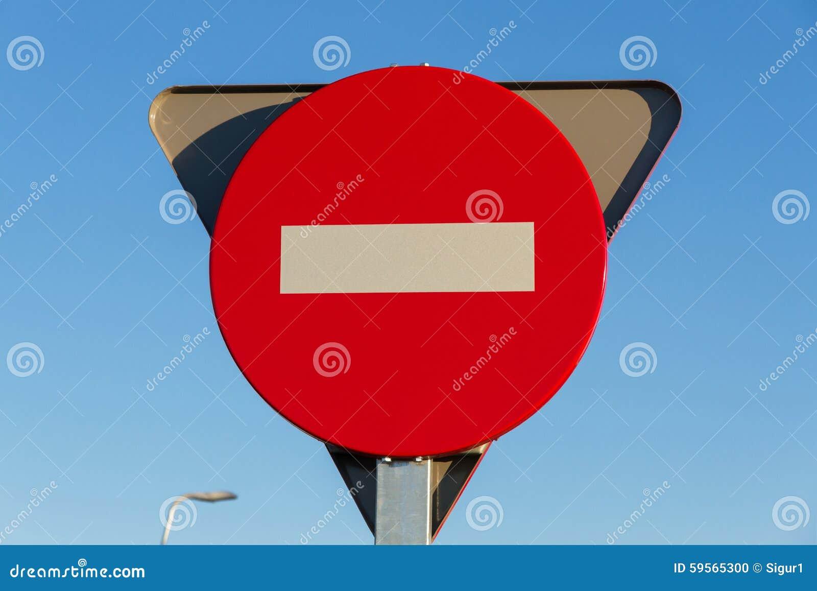 Segnale stradale, nessun entrata