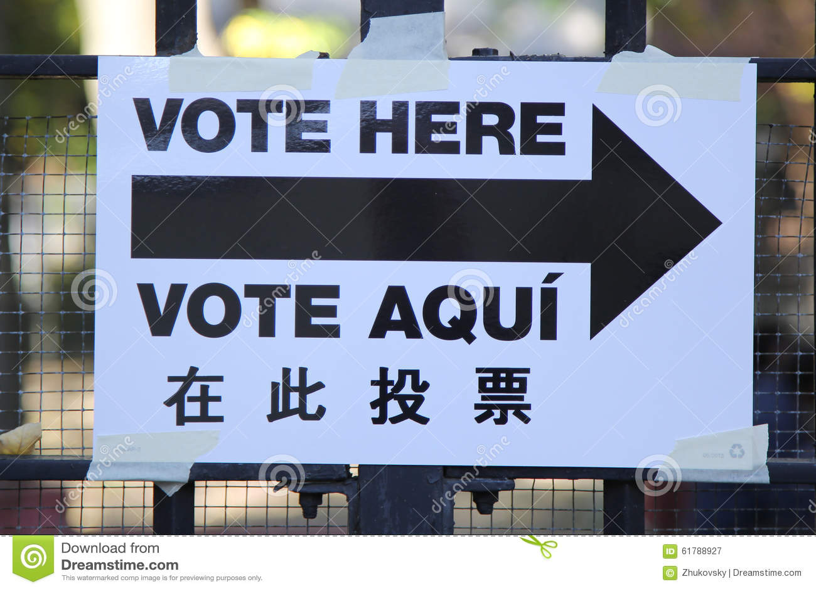 Segni al sito di voto a New York