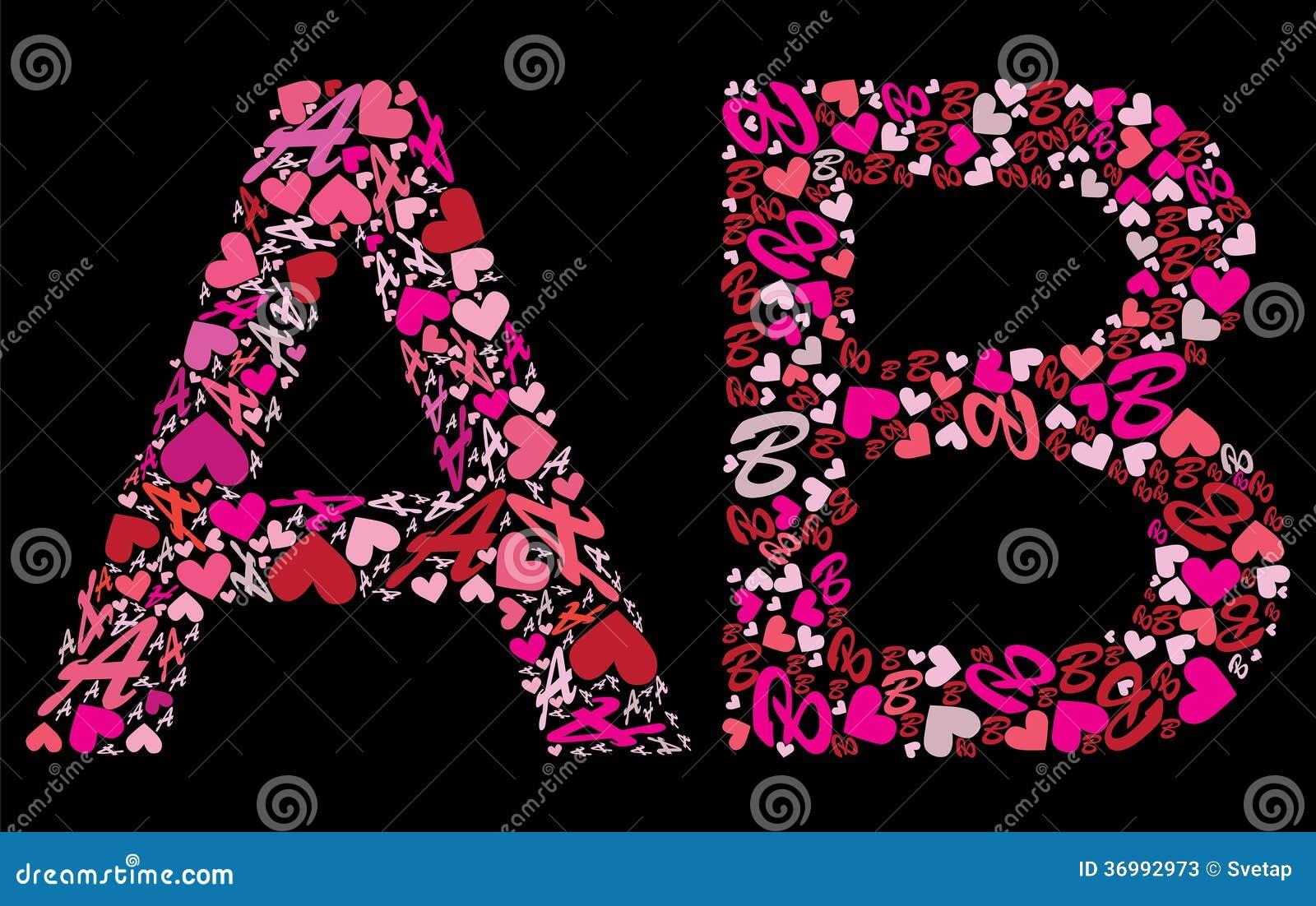 Segni a con lettere l alfabeto di b valentine illustrazione