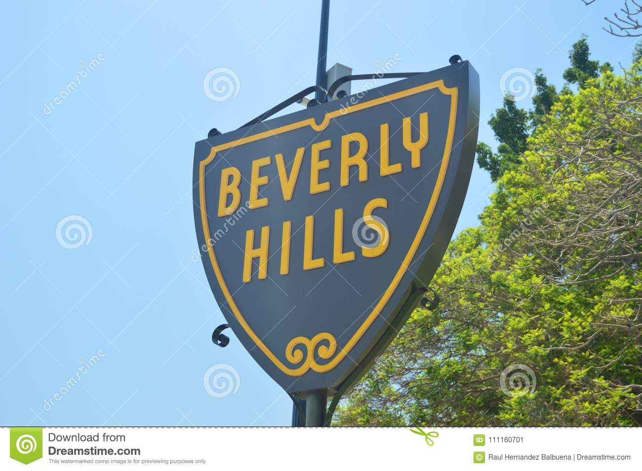 Segni dell entrata a Beverly Hills Neighborhood