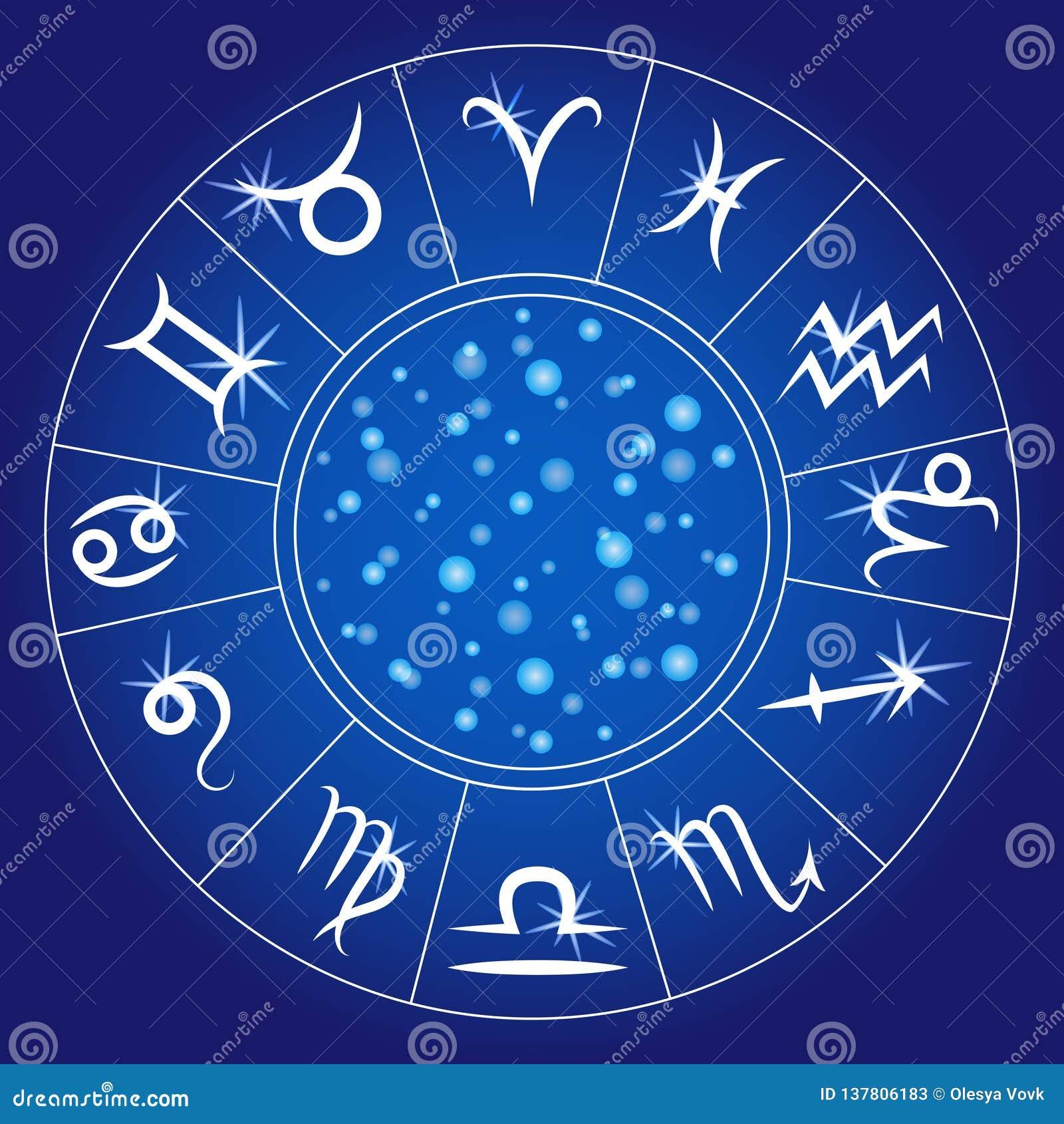 Calendario Zodiacale.Segni Dello Zodiaco Cerchio Zodiacale Calendario Astrologico