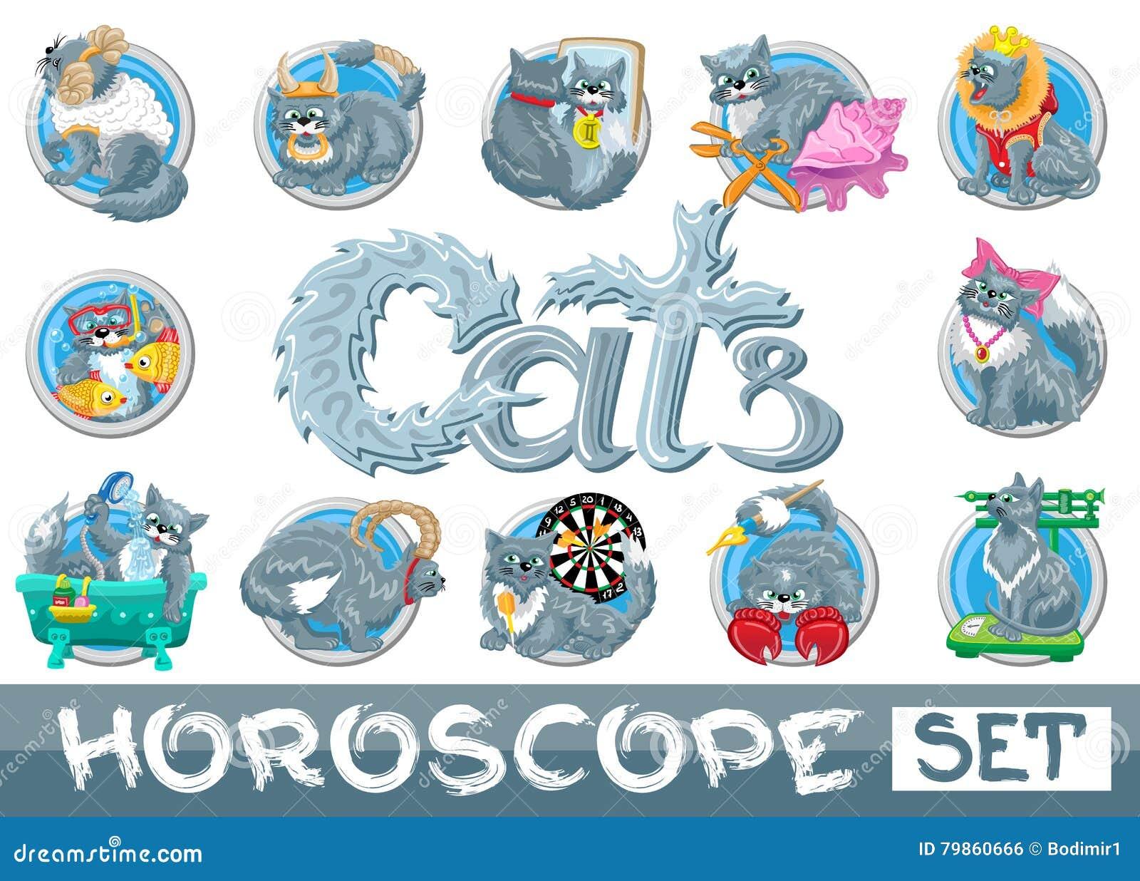 Calendario Zodiaco.Segni Dello Zodiaco Messi Isolati Illustrazione Vettoriale