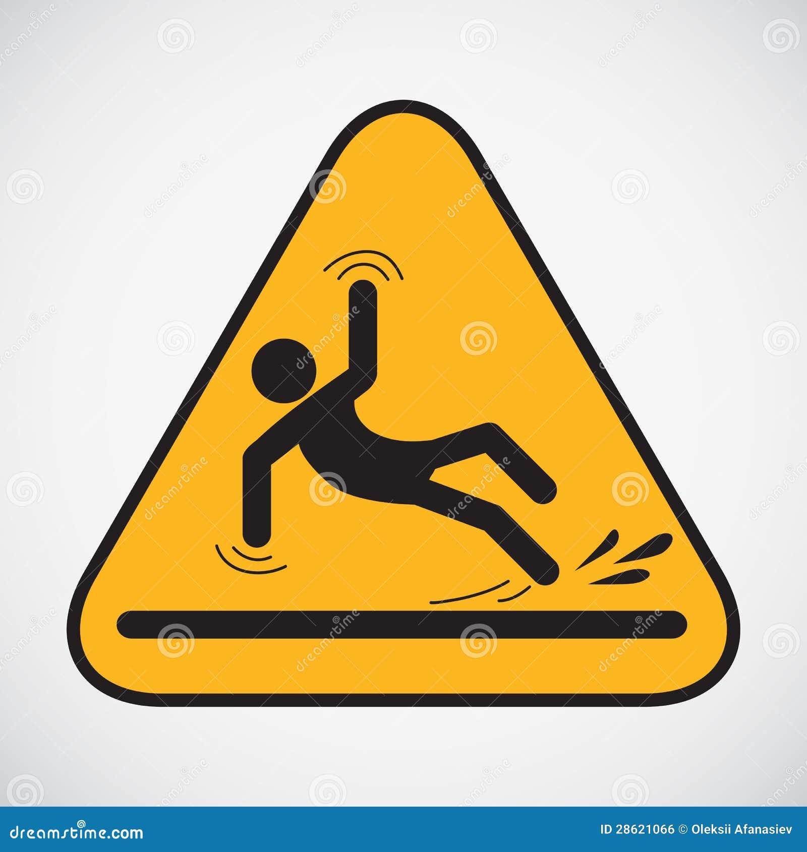 Segno bagnato di avvertenza del pavimento.