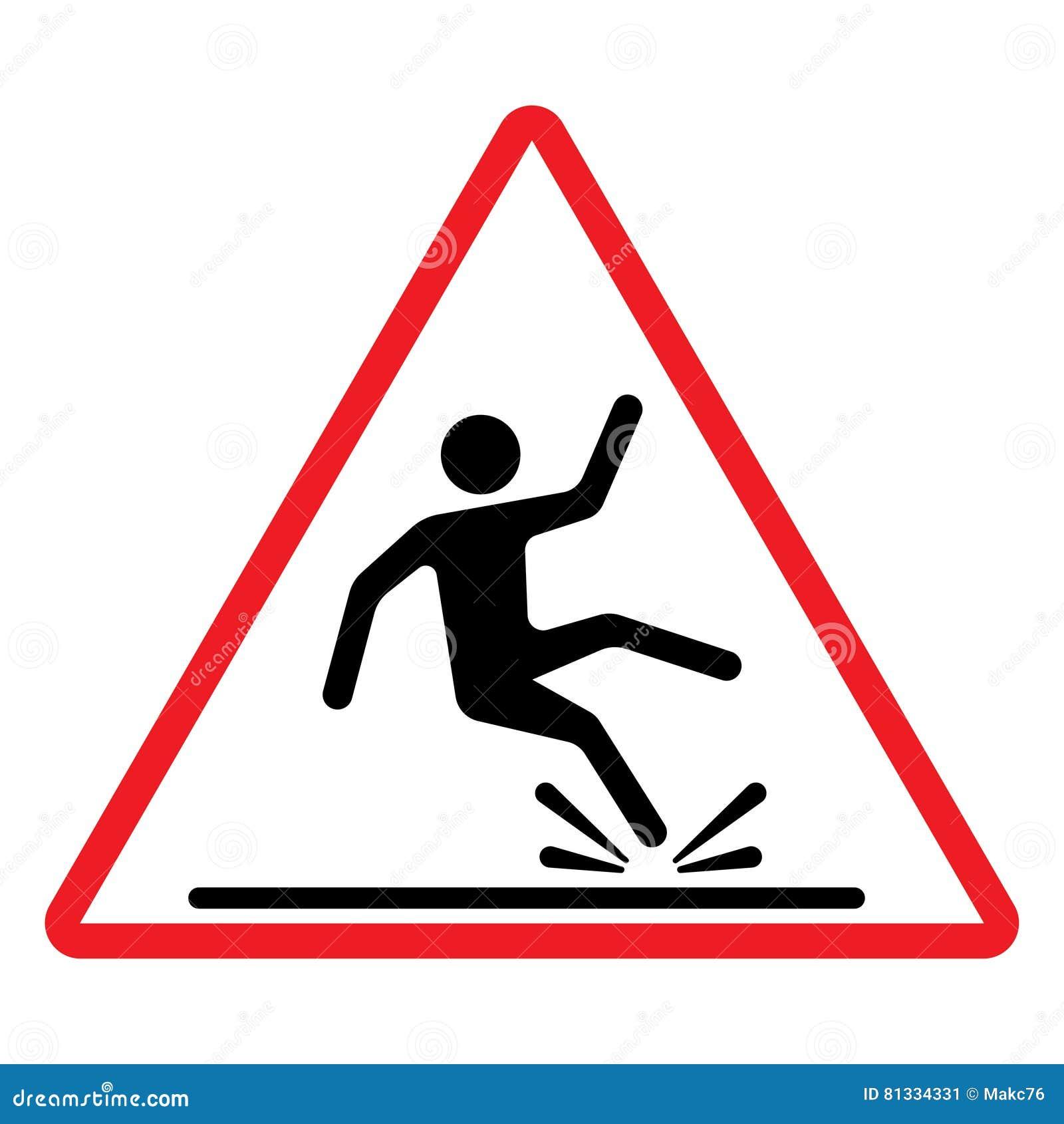 Segno bagnato di avvertenza del pavimento Illustrazione di vettore