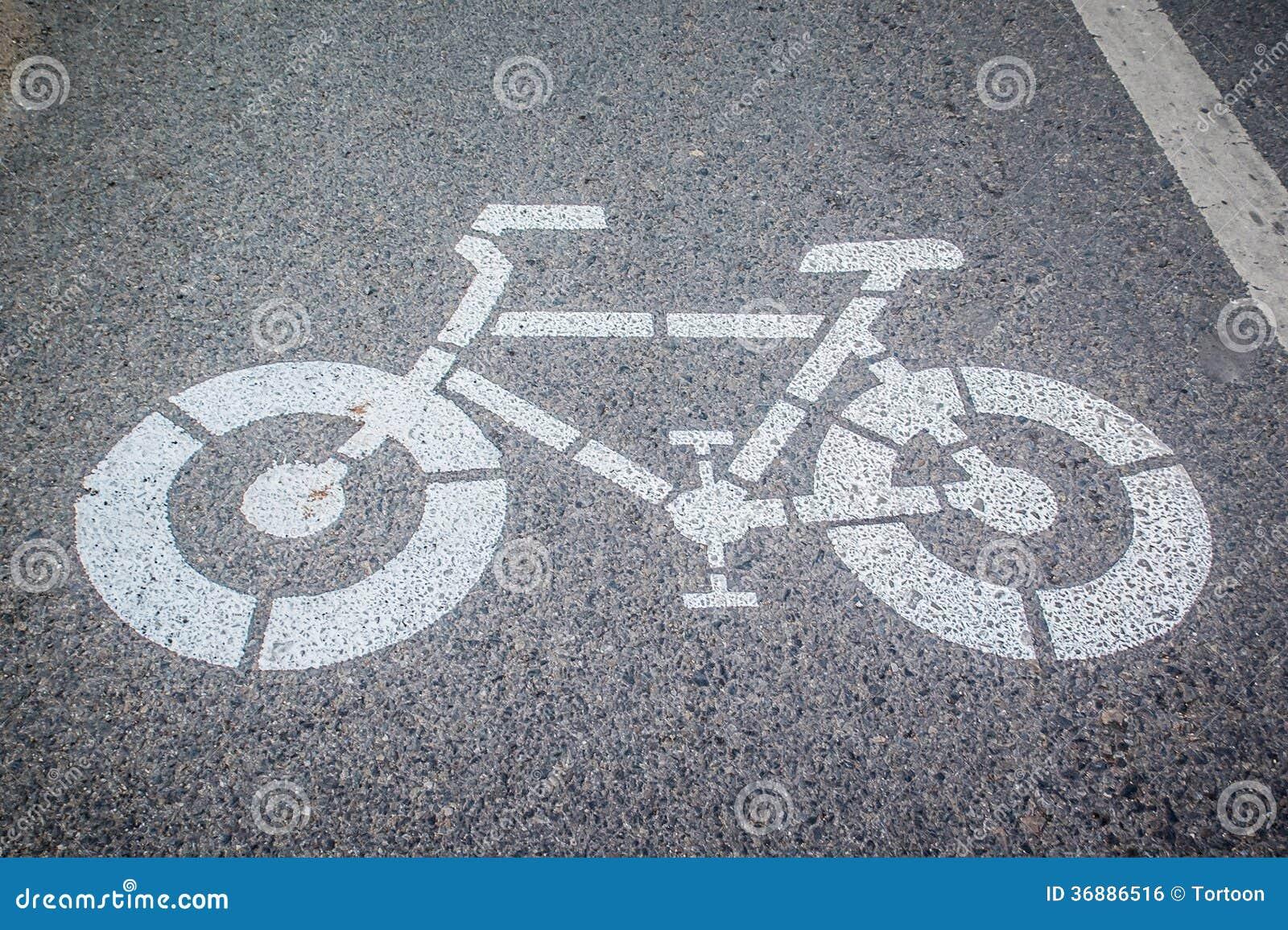 Download Segno Bianco Della Bicicletta E Della Freccia Fotografia Stock - Immagine di cyclist, freccia: 36886516