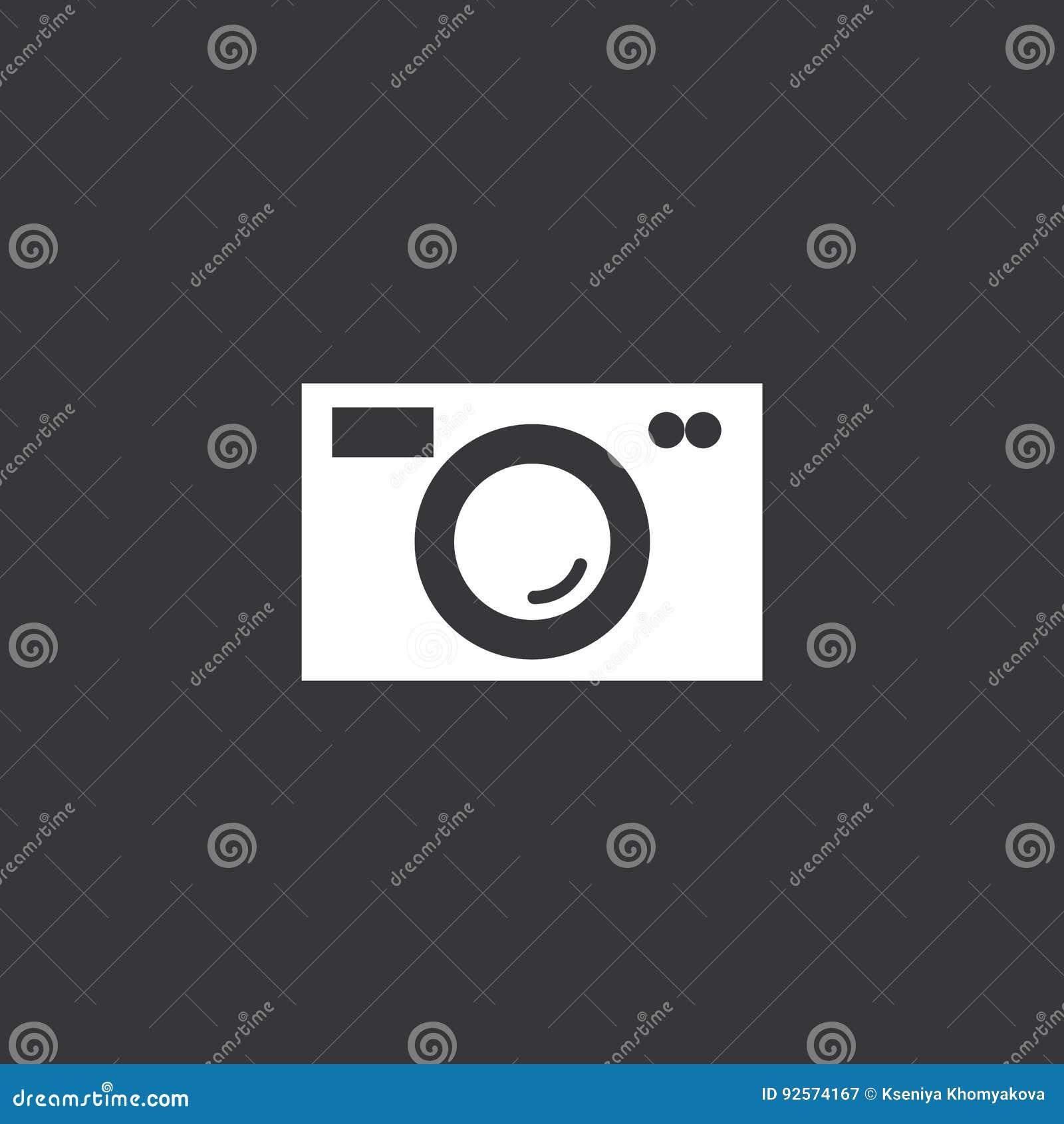 Segno in bianco e nero della macchina fotografica