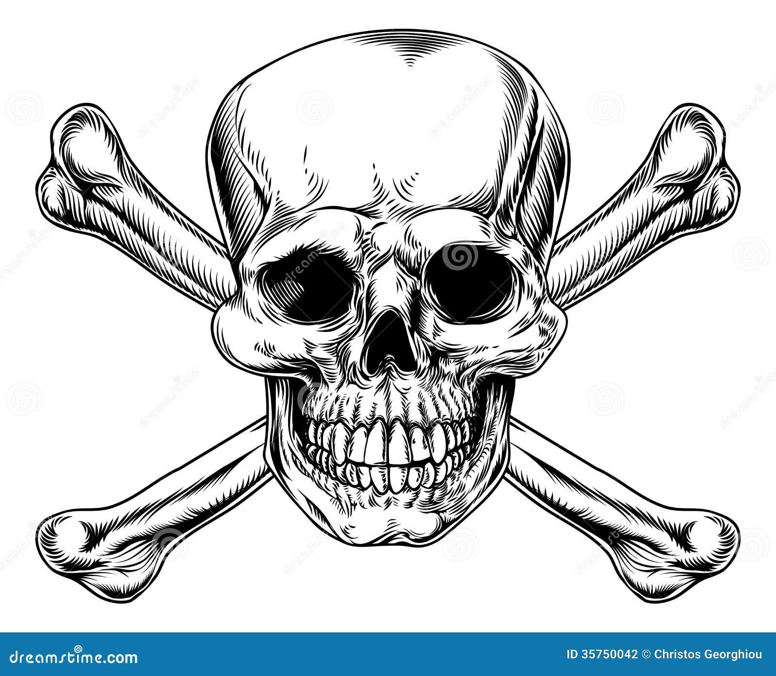 Segno d annata di tibie incrociate e del cranio