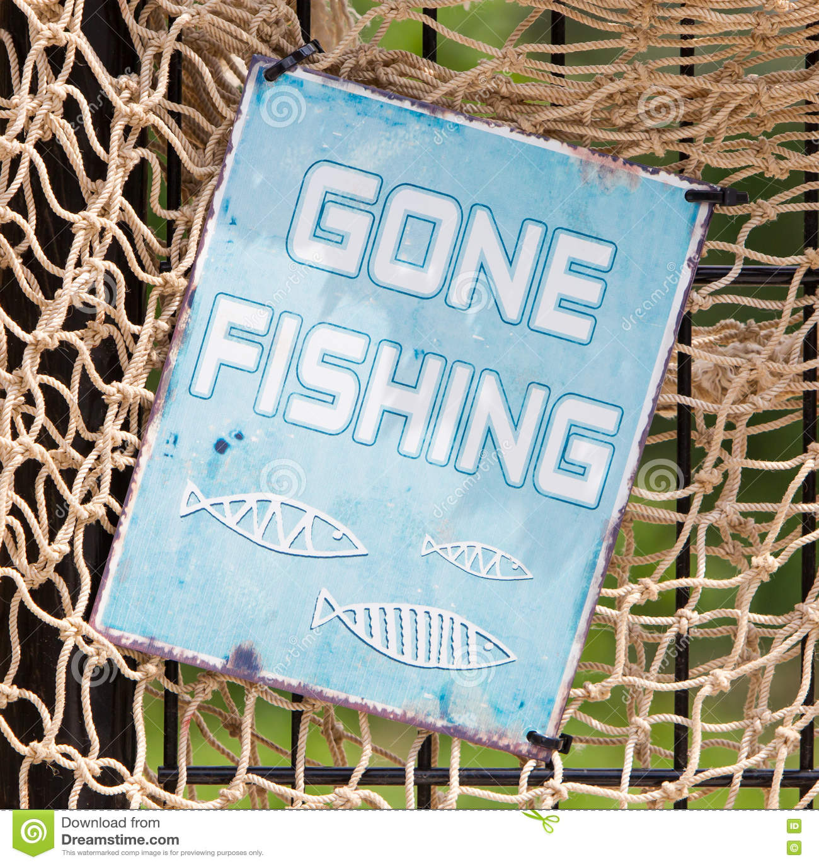 Segno da pesca andato