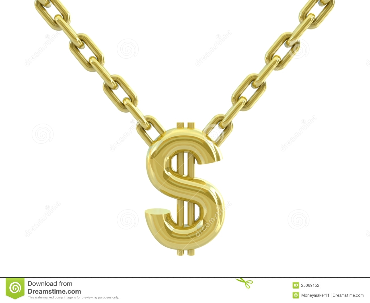 Gold chains gangsta