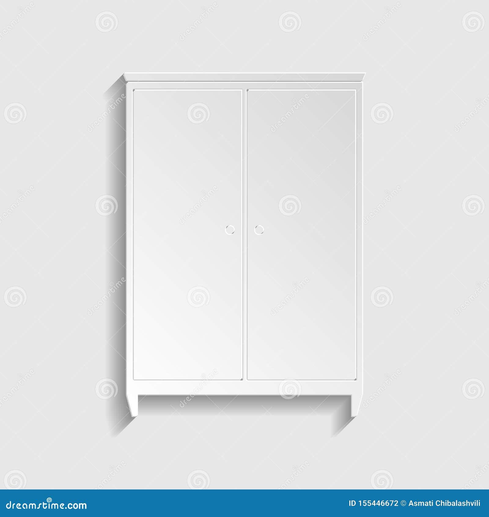 Segno del guardaroba Icona di carta di stile Illustrazione
