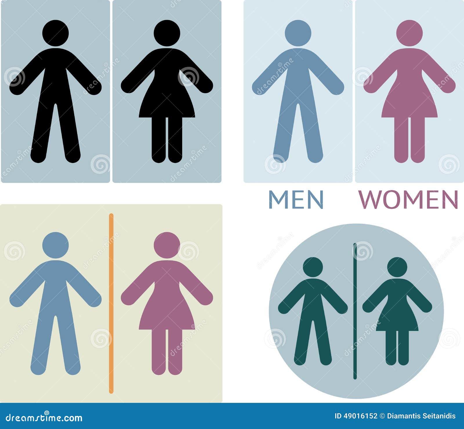 Segno del locale di riposo o della toilette illustrazione vettoriale immagine 49016152 - Etichetta bagno donne ...