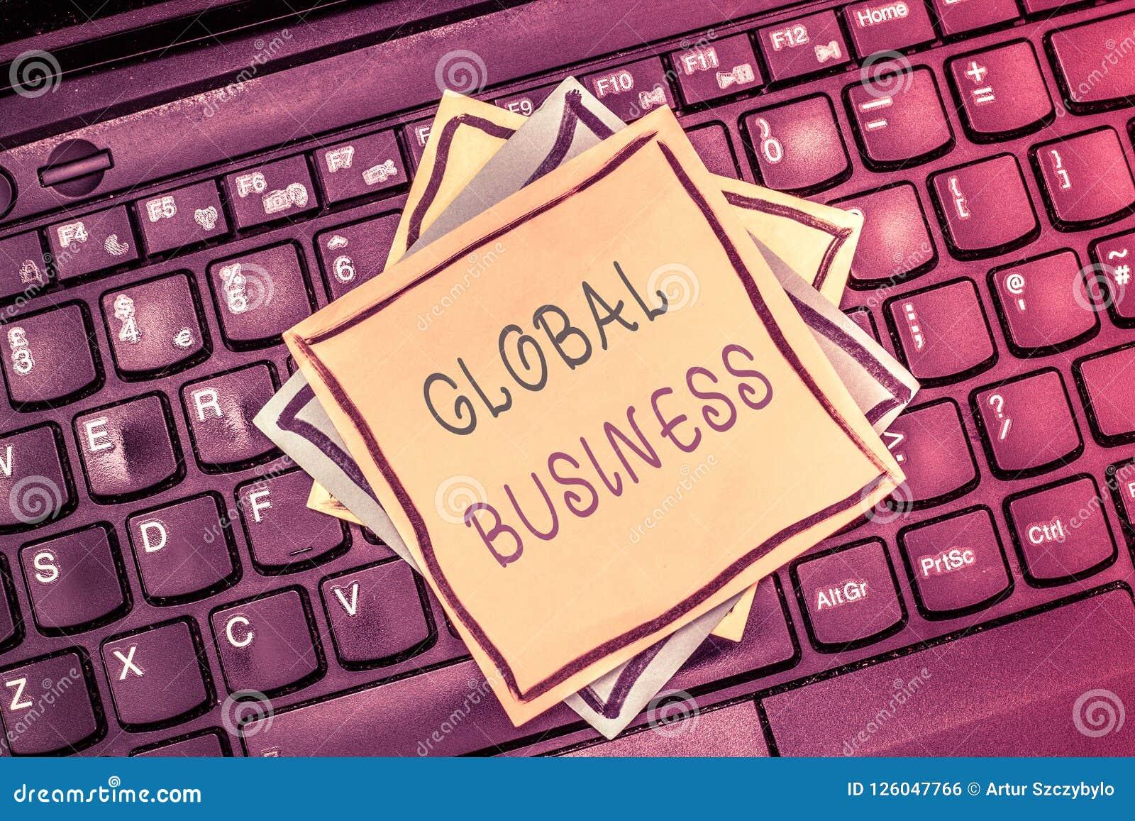 Segno del testo che mostra affare globale Commercio e sistema economico concettuali della foto una società che fa attraverso il m