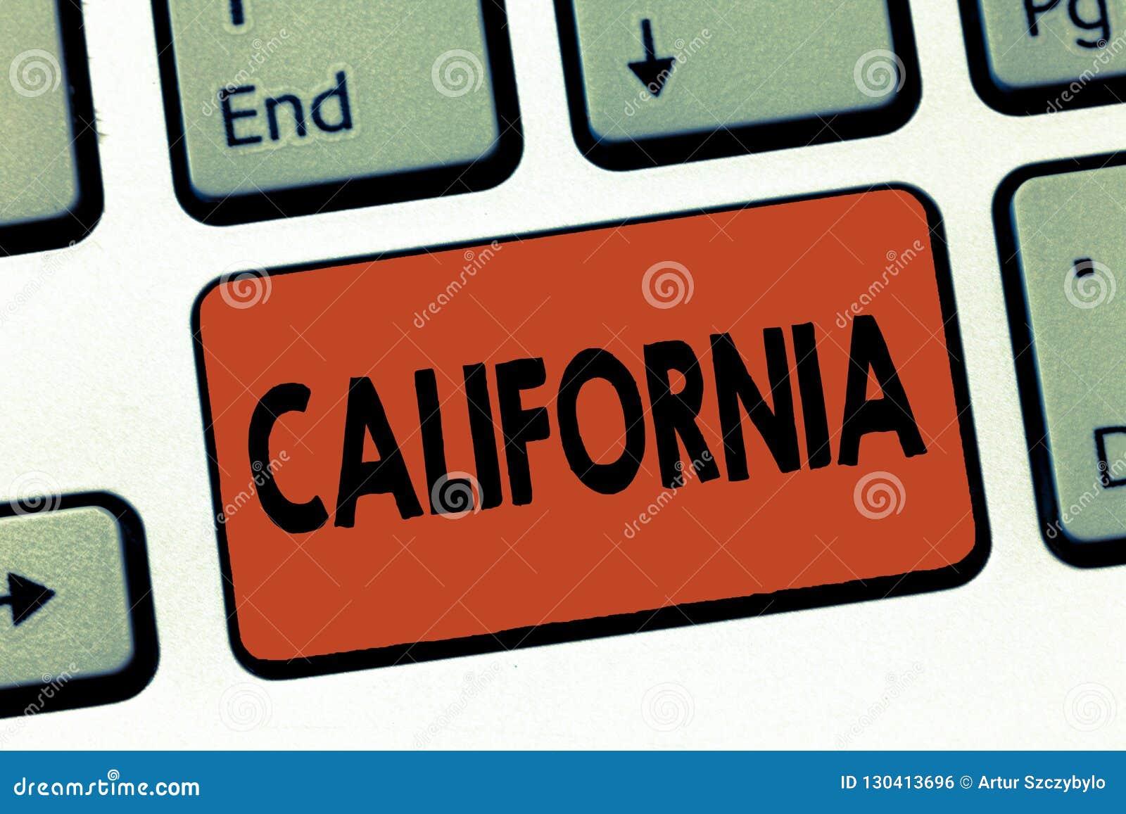 Segno del testo che mostra California Lo stato concettuale della foto sulla costa ovest Stati Uniti d America tira Hollywood in s