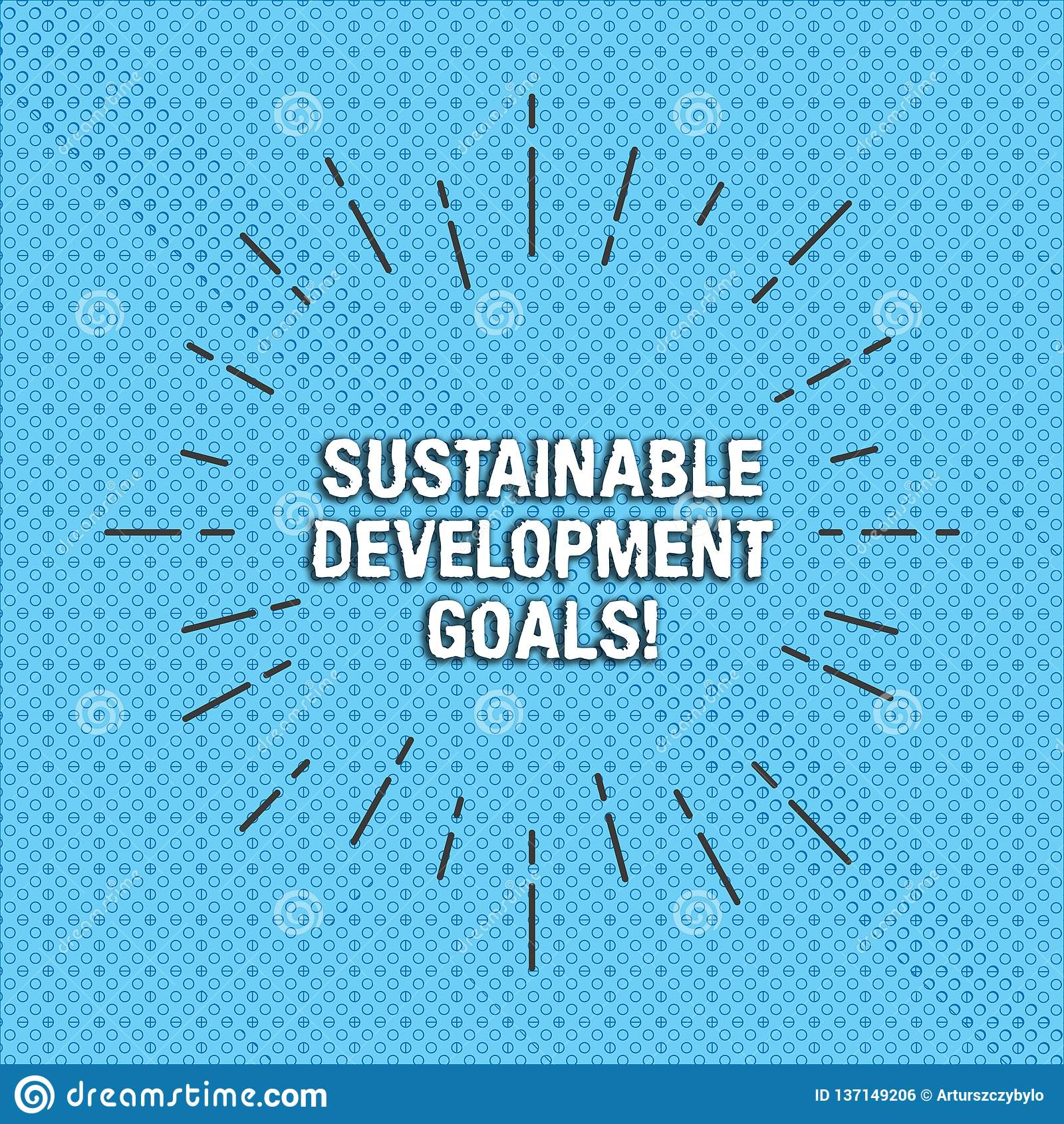 Segno del testo che mostra gli scopi di sviluppo sostenibile La foto concettuale unisce leggermente la visione globale di nazioni