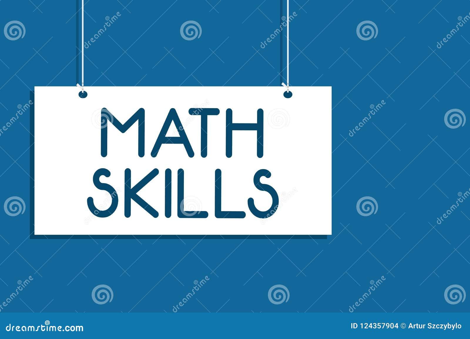 Segno del testo che mostra le abilità di per la matematica La foto concettuale che comincia imparare come contare i numeri aggiun