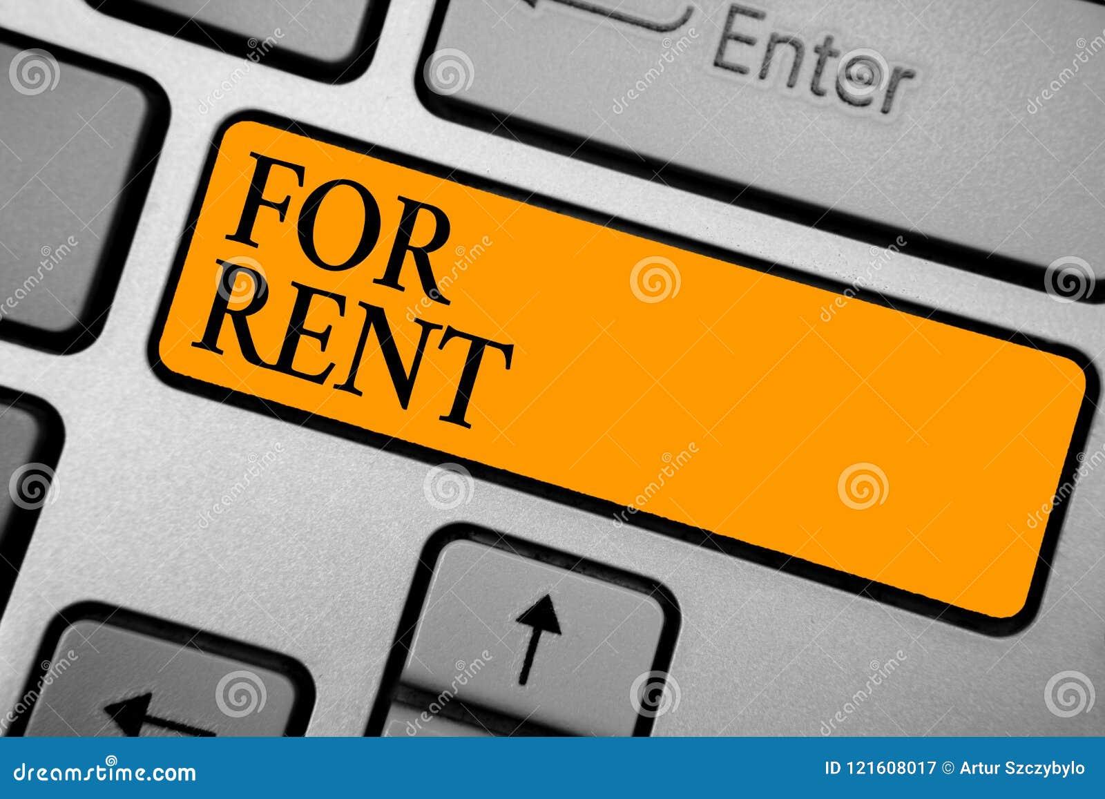 Segno del testo che mostra per l affitto Foto concettuale quando mettete a disposizione la proprietà per l acquisto temporaneamen