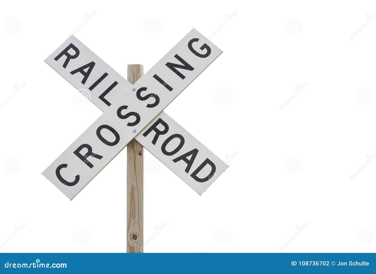 Segno dell incrocio di ferrovia