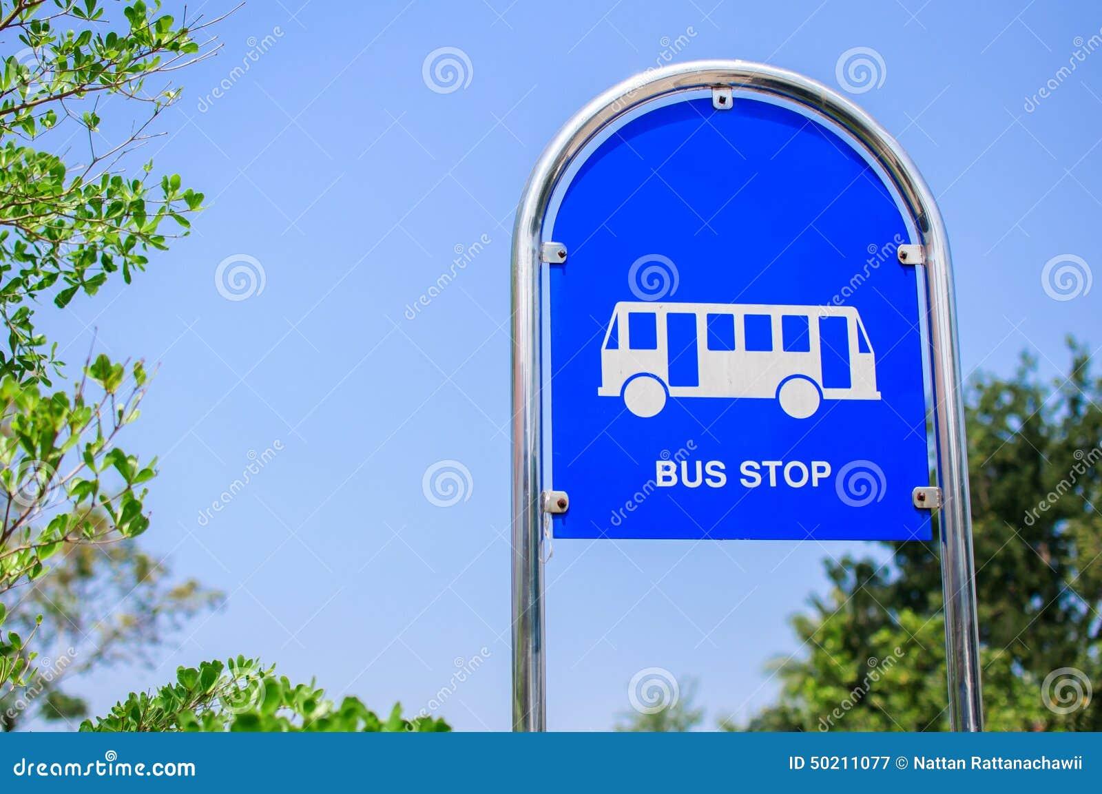 Segno della fermata dell autobus