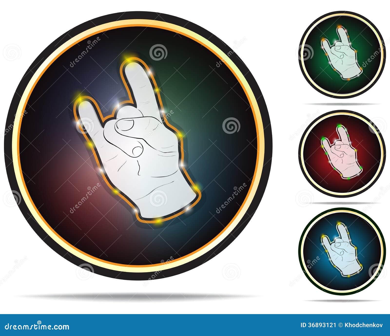 Download Segno Della Mano Della Roccia. Icone Di Vettore. Illustrazione Vettoriale - Illustrazione di gesturing, moderno: 36893121