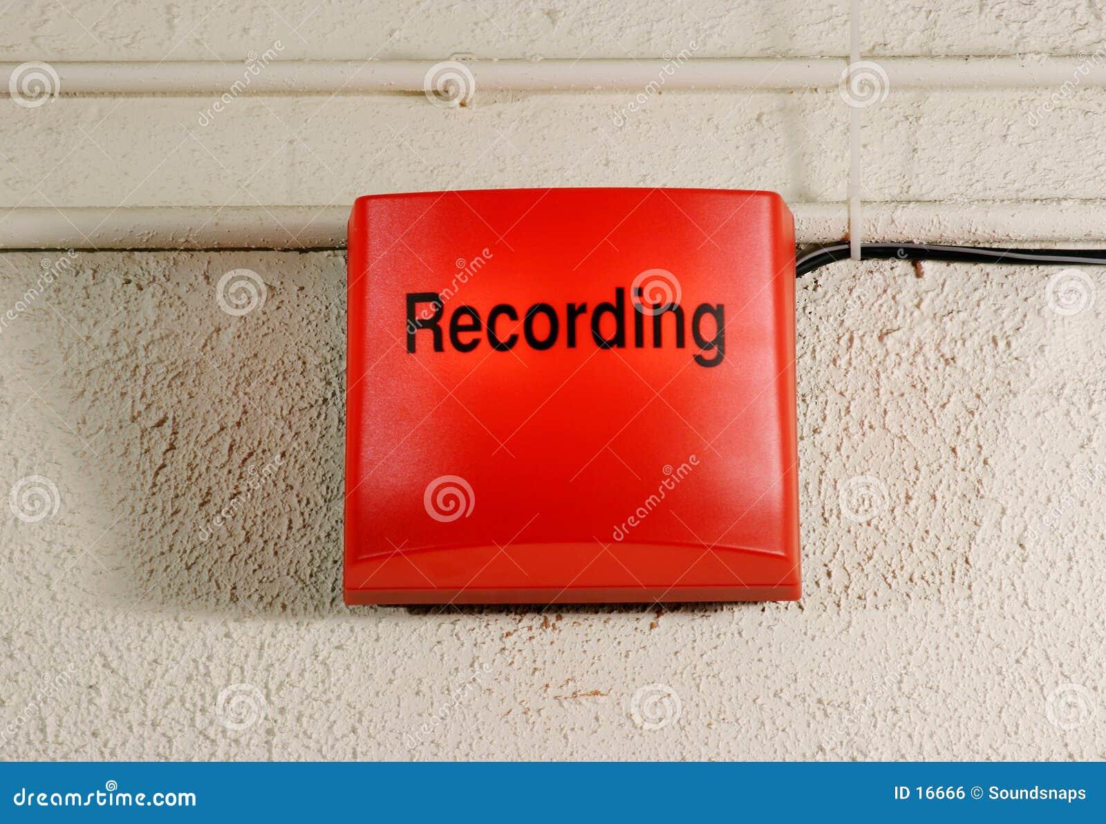 Segno della registrazione dello studio