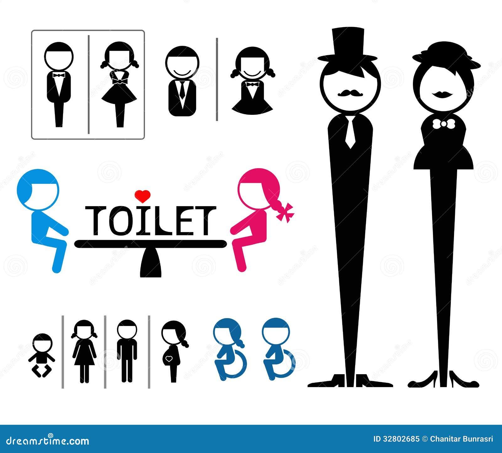 Segno Della Toilette Illustrazione Vettoriale. Immagine Di Disegno
