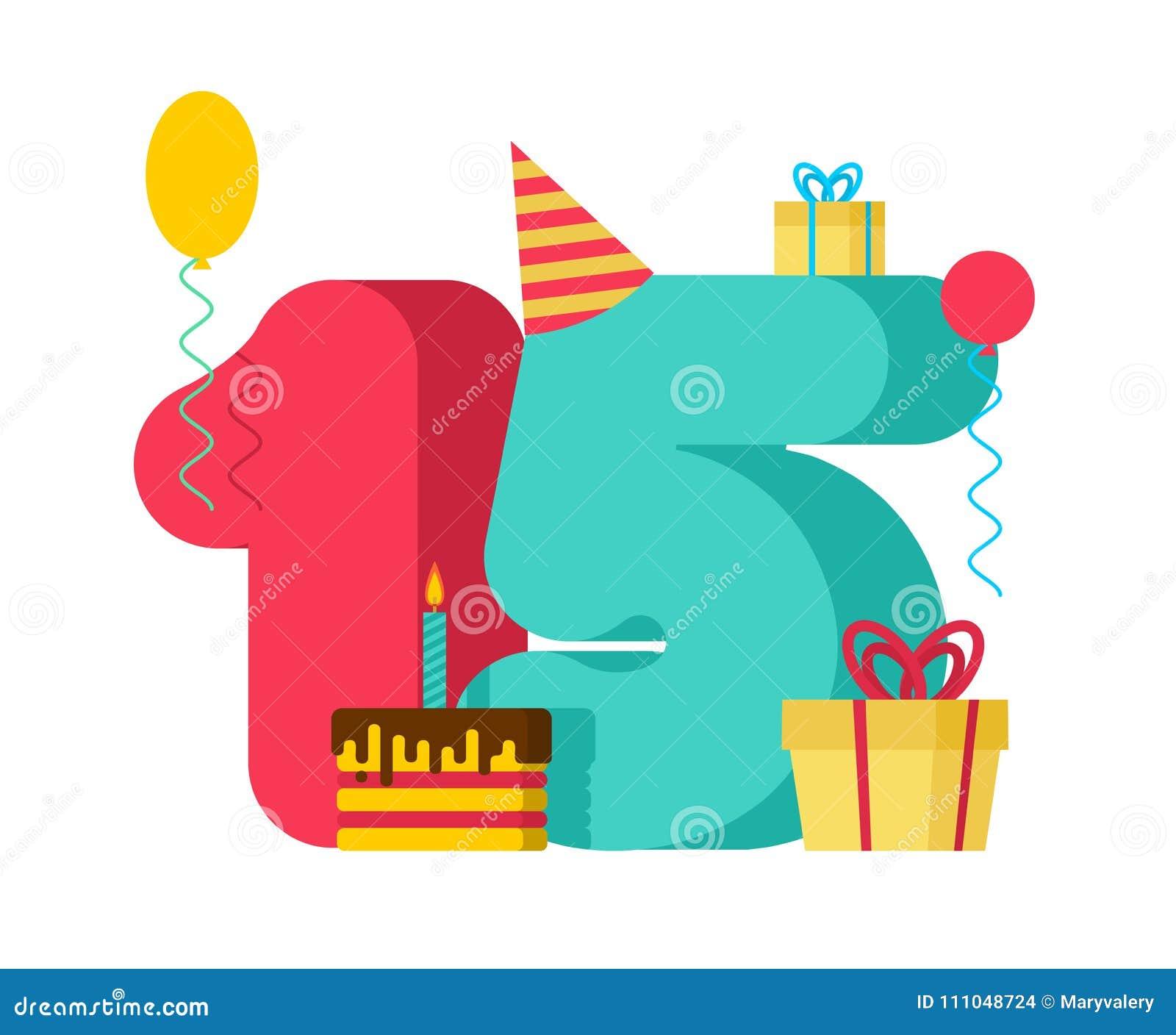 Segno Di Compleanno Di 15 Anni Quindicesimo Anniversario C Della