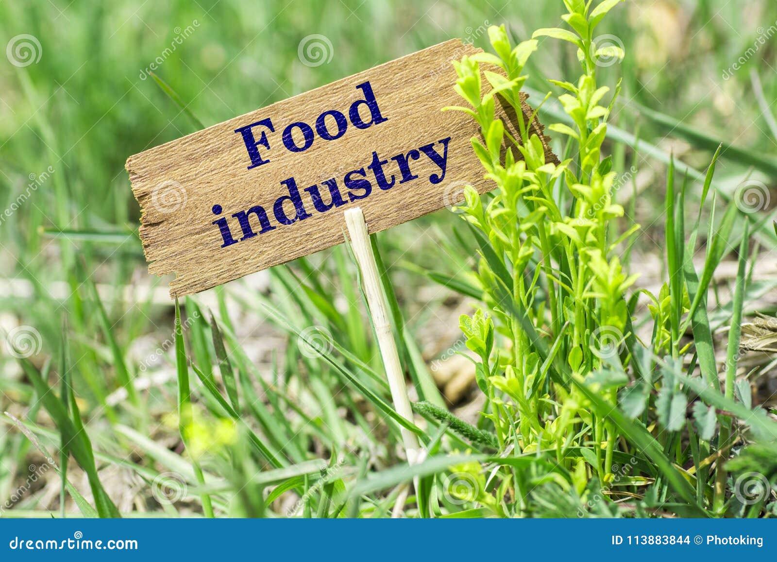 Segno di legno di industria alimentare