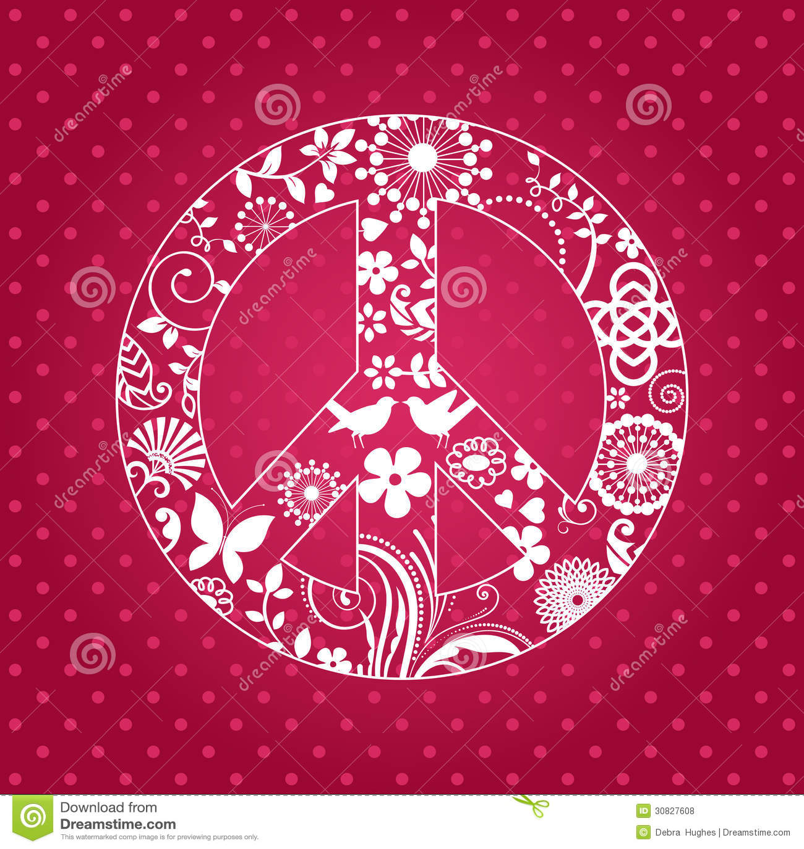 Segno di pace di Patterened
