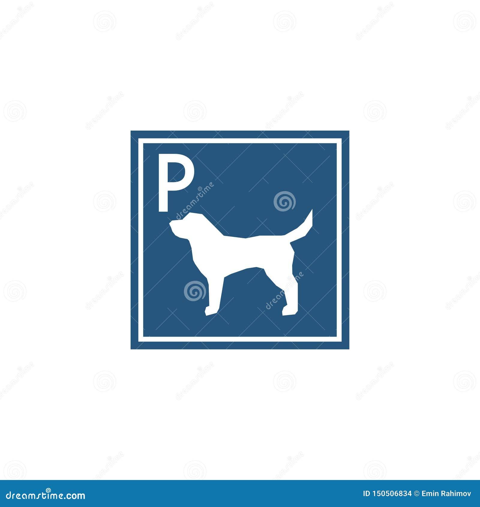 Segno di parcheggio per i cani