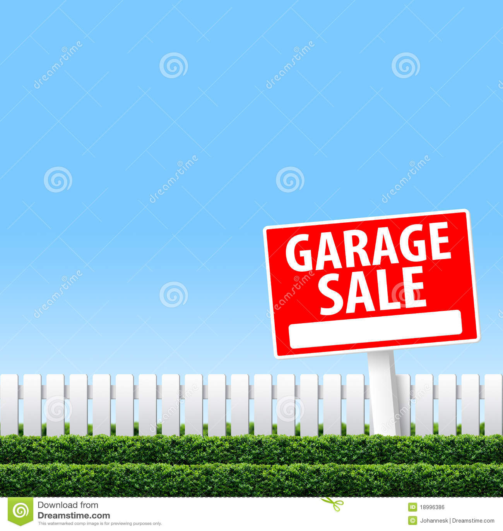 Segno di vendita di garage