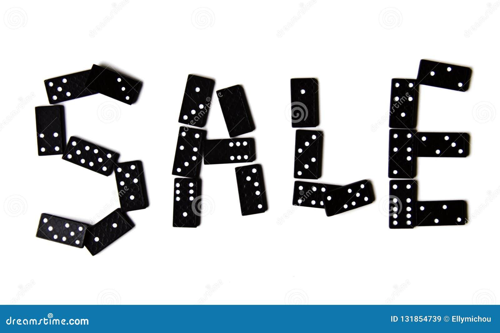 Segno di vendita di domino
