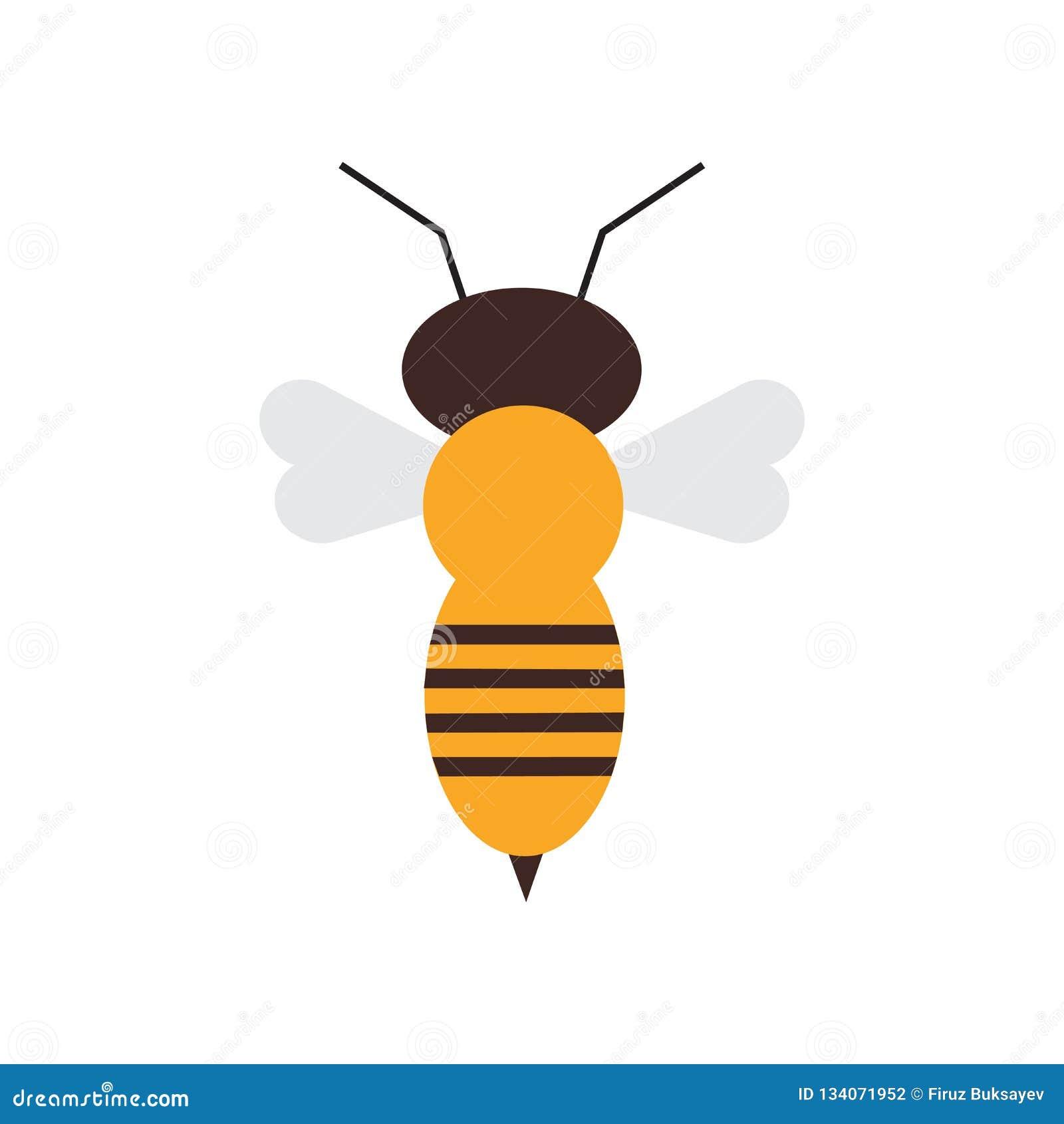 Segno e simbolo di vettore dell icona dell ape isolati su fondo bianco, concetto di logo dell ape