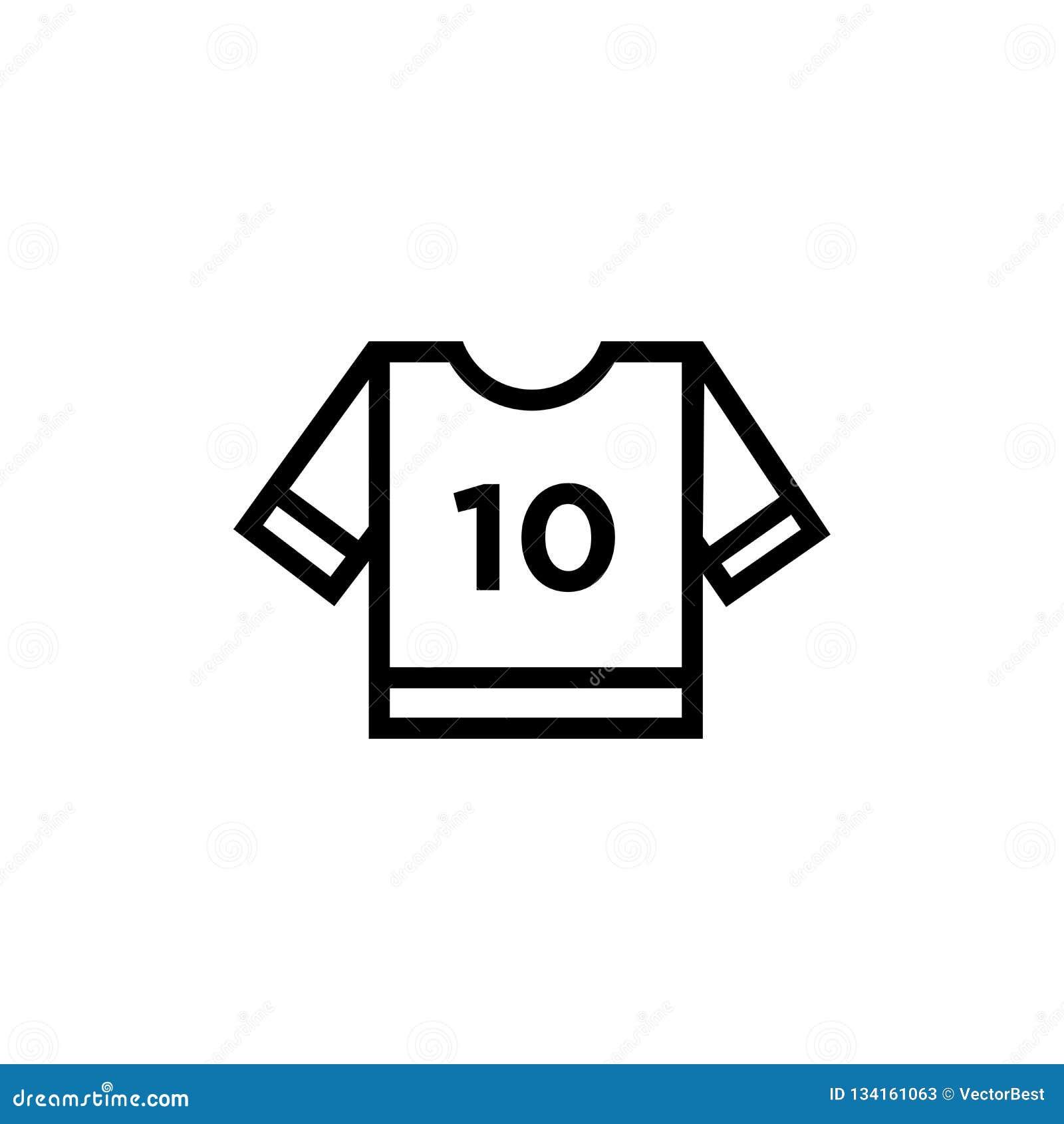 Segno e simbolo di vettore dell icona del Jersey di football americano isolati su fondo bianco, concetto di logo del Jersey di fo